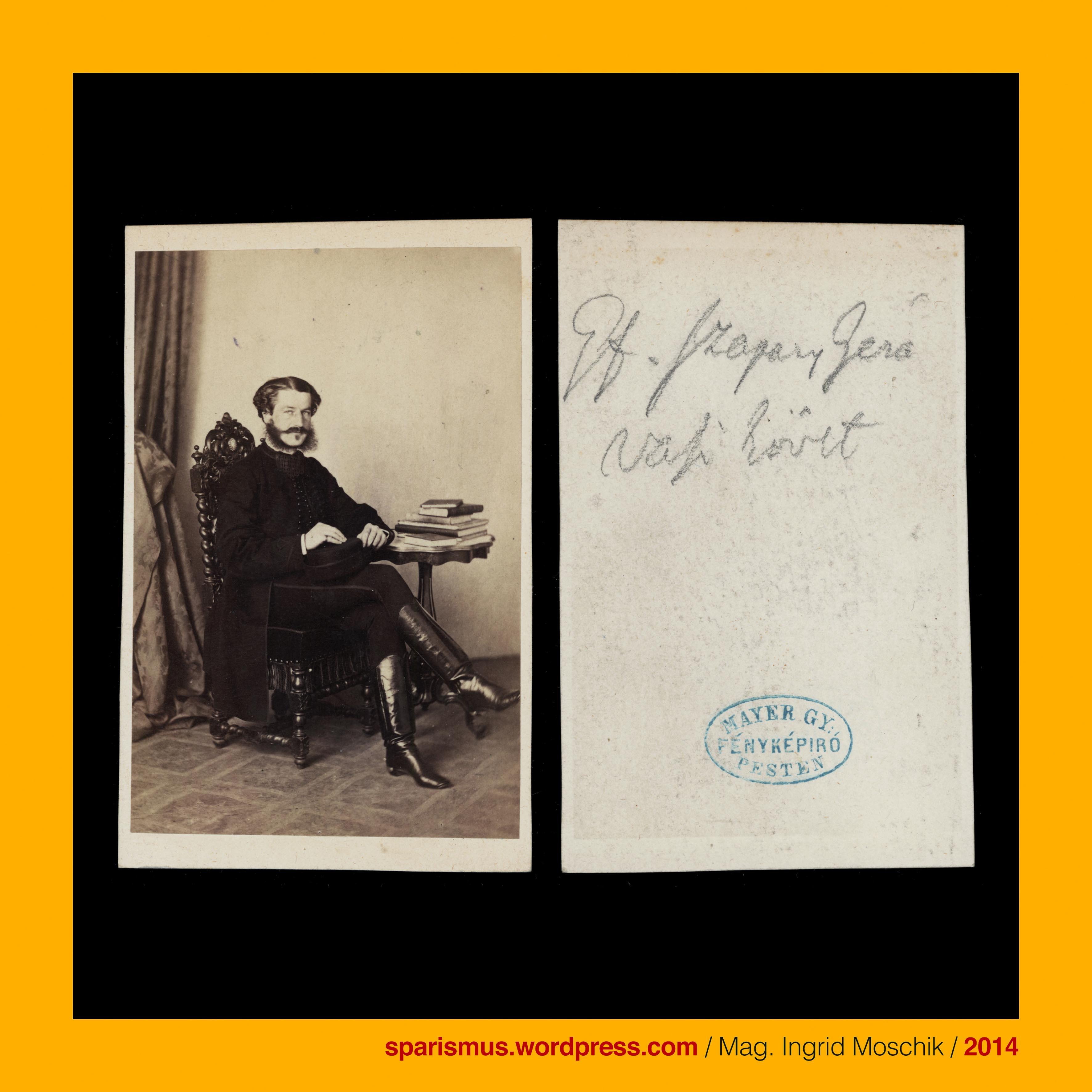 György Mayer Budapest um 1865 Graf Geza Szapary sucht seine