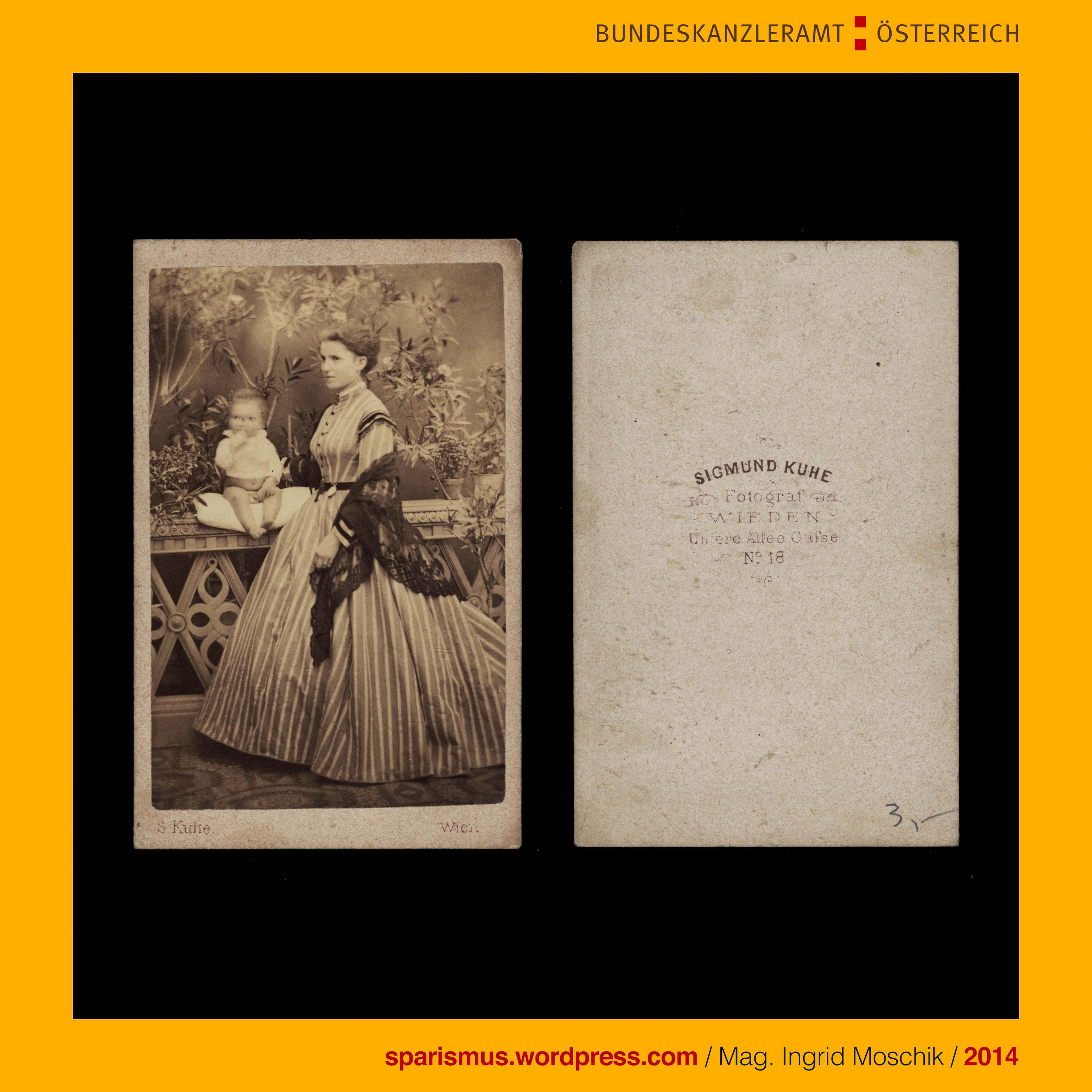 Sigmund Kuhe graph Wien IV Wieden Untere Allee Gasse No 18 Mutter mit Kind um 1870