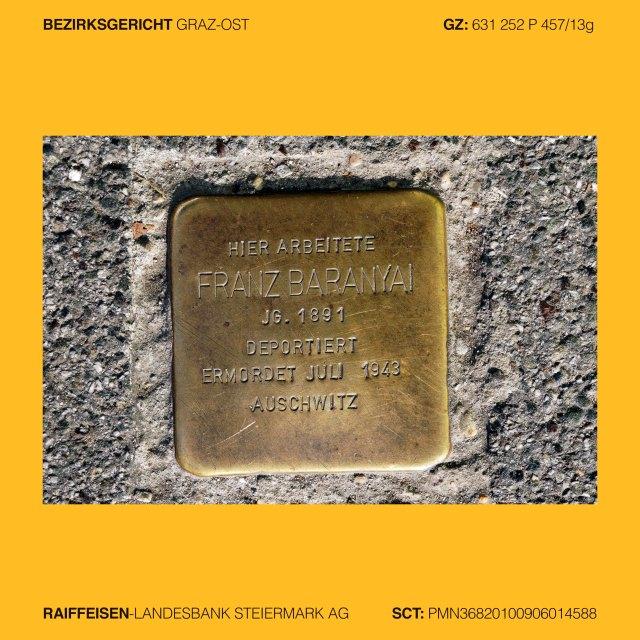 Mag. Ingrid Moschik (*1955 Villach – 999), Kunstleitzahl 38000, KLZ 38000, Gerichtsleitzahl 38000, GLZ 38000, Bankleitzahl 38000, BLZ 38000, Spurensicherung 38000, Street photography 38000, Street Archeology 38000, Graffiti Graz, Graffiti 38000, Graffiti change the world, occupy art 38000, copycat art 38000, Graz I. Innere Stadt, Paulustorgasse 8, FRANZ BARANYAI, Jg. 1891, deportiert, ermordet in Auschwitz 1943, Graz II. Leonhard, Elisabethstrasse 18, ALFRED MITKROIS, Jg. 1897, verhaftet 1939, verschiedene KZ, ermordet in Dachau 1941, Graz III. Geidorf, Schröttergasse 7, BRUNO KURZWEIL, Jg. 1891, GISELA KURZWEIL, Jg. 1900, ADELE KURZWEIL, Jg. 1925, ermordert in Auschwitz 1942, HERBERT EICHHOLZER, Jg. 1903, hingerichtet 1943, Graz VI. Jakomini, Jakoministrasse 10, FRANZ HAIM DORTORT, Jg. 1897, ANNA CHANNA DORTORT, Jg. 1898, BLANKA DORTORT, Jg. 1924, LEO DORTORT, Jg. 1928, ermordet oder vertrieben 1939-42, Graz VI. Jakomini, Jakoministrasse 10, Graz VI. Jakomini, Leitnergasse , ISRAEL PRUCKER, Jg. 1884, ETTEL PRUCKER, Jg. 1886, unfreiwillig verzogen 1940 Wien, ermordet 1942 Maly Trostinec, Graz IV. Lend, Südtirolerplatz 10, KLEMENTINE NARODOSLAVSKY, Jg. 1897, eingewiesen 1936 Sonderkrankenhaus, verlegt, ermordet 1941 Schloss Hartheim, Graz II. Leonhard, Rechbauerstrasse 27, Hier wohnte JOSEF NEUHOLD, Jg. 1890, im Widerstand verhaftet 1941, verurteilt 1942, in Haft gefoltert, tot 1942, Graz VI. Jakomini, Grazbachgasse 41 Ecke Maygasse, Hier arbeitete ISODOR KÖRNER, Jg. 1903, enteignet 1938, Flucht 1939 Jugoslawien, Kladovo-Transport, Schicksal unbekannt, Graz V. Gries, Griesplatz - Reichengasse – Bürgerspitalgassse, GENTRIFIKATION ist KRIEG gegen die Armen. Gentrifikation 38000, Getrifizierung 38000, Yuppisierung 38000, Yuppifikation 38000,  Graz V. Gries, Stadlgasse, RIOT NOT DIENT!, GynArcho 38000, Graz V. Gries, Annenstrasse 13, DIE WELT UM 99 CENT, Bankenhimmel 38000, Graz III. Geidorf, Leechgasse, (Arnold Schwarzenegger) HASTA LA VISTA (Baby), Graz III. Geidorf, A