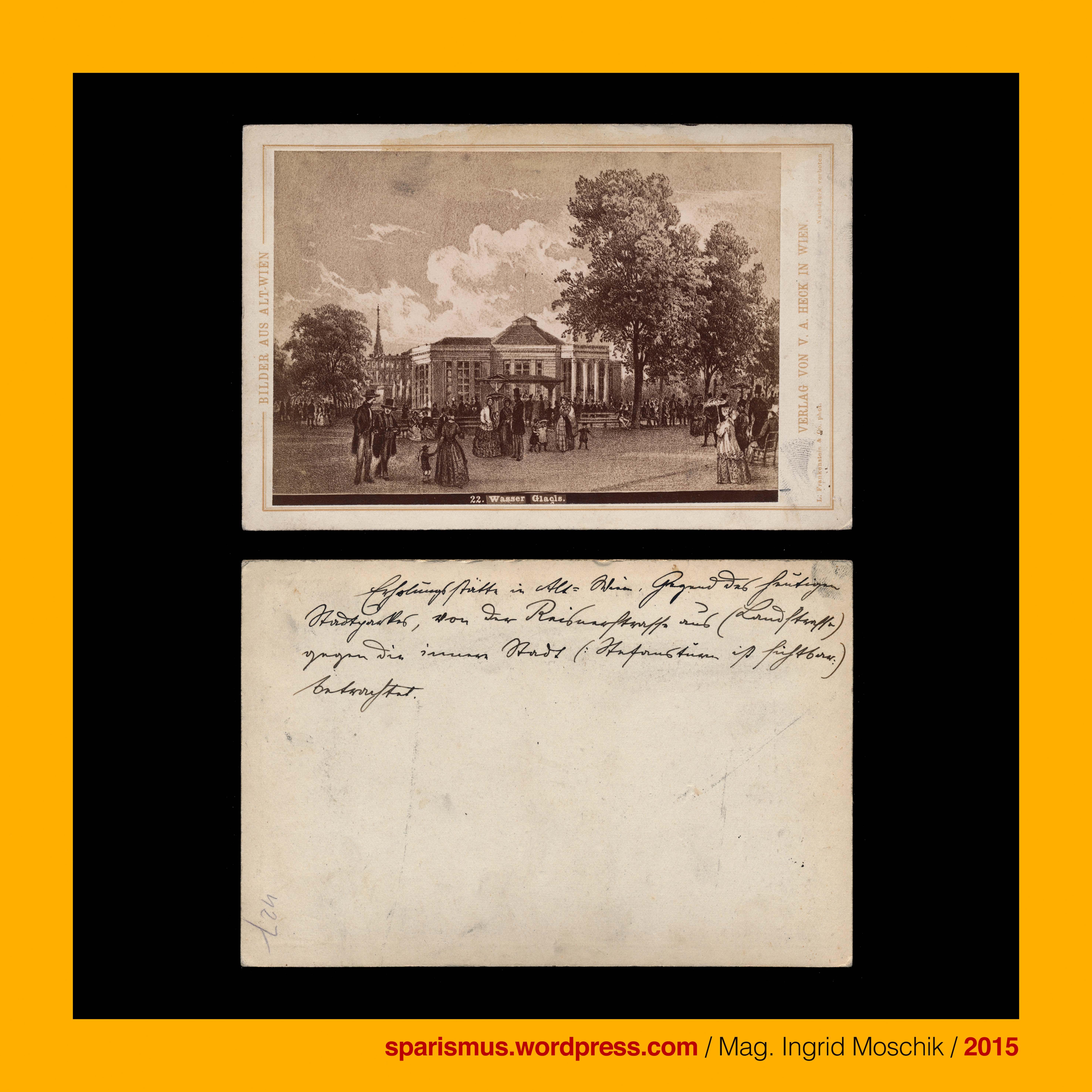 Verlag V A Heck 1877 AltWien 22 Wasserglacis vor dem