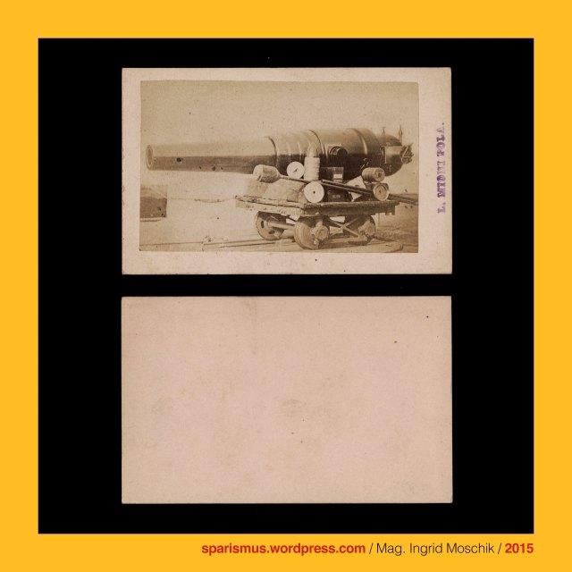 L. Mioni, Luigi Mioni (aktiv 1862 – 1902 als Photograph in Pula – Pola und Triest – Trieste), Schiffskanone auf Lafette, S.M.S. Custoza = SMS CUSTOZA (1869-1874 in Triest gebaut – 1920 verschrottet), S.M.S. CUSTOZA = SMS CUSTOZZA, S.M.S. Custoza – Panzerschiff - Kasemattenschiff, S.M.S. Custoza - Seekadetenschiff , S.M.S. Custoza – Quartierschiff, Oliveninsel = Oliven-Insel = Scoglio Olivi, Oliveninsel-Brücke, k.k. Seearsenal Pola (1856-58 bis 1918), k.u.k. Kriegsmarine, scoglio = scoclus = scoplus = scopulus = skopleos = lookout place = headland, scoglio = projecting rock = cliff in the sea = promontory = difficulty = risk = bug, Pula, Pola, Pulj, Pola Pollentia, Colonia Pietas Iulia Pola Pollentia Herculanea, Triest, Trieste, Trst, Istrien, Istra, Istria, Eistria, Histria, Kroatien, Hrvatska, Rathaus auf dem Forum in Pola (1296 bis heute), Tempel der Diana in Pola, Pula – Forum, Tempel des Augustus und der Roma auf dem Forum in Pola (2 BC – 14 AD – today), Temple of Augustus in Pula, Temple of Pola in Istria, Augustov hram  - Pulj forum, Marinecasino = Casino di Marina (1872 - heute), Marine-Casino (1872  - heute), Marine-Offizierscasino in Pola, Werft, shipyard, dockyard, wharf, Segeldampfschiff, Dampfsegler, Segeldampfer, sailing steamer, sailing steamboat, Porta Aurea der Via flavia (27 BC – 1829 AD), Porta Aurea = Goldene Pforte in Pola, Sergierbogen (27 v. Chr. - heute), Arcus Sergii, Arco dei Sergi, Slavoluk Sergijevaca, Arch of the Sergii (27 BC - today), Via Flavia, k.u.k. Monarchie, k.u.k. Marine, The Austrian Federal Chancellery, Bundeskanzleramt Österreich, BKA, Ballhausplatz 2, Sparismus, Sparen ist muss,  Sparism, sparing is must Art goes politics, Zensurismus, Zensur muss sein, Censorship is must, Mag. Ingrid Moschik, Mündelkünstlerin, Staatsmündelkünstlerin