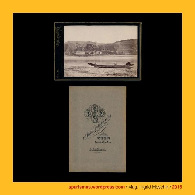 Atelier Voigtländer, #Voigtländer, Herman Voigtländer (aktiv als Photograph in Wien etwa 1868 bis etwa 1894), Herman = Hermann Voigtländer, Weitenegg - Ultramarinfabrik (Johann) Setzer (1846-1921) = Chemische Farbenfabrik C. M. Habich AG (1921 bis heute), Weitenegg in der Wachau, Weitenegg an der Donau = Ruine Weitenegg in Leiben in Niederösterreich (12. Jahrhundert bis heute), Weitenegg = Weiteneck = Weydenek, Weitenegg = Ecke wo der Weitenbach aus dem Mühviertel in die Donau mündet, Weitenegg - Weitenbach = Weidenbach = Weydenbach = Weydnbach, Weitenegg = Weitenbach-Mündung = PIE *ueid- *uid- = water Wodka Wasser Weiden Vine Wein Vindobona Wien Wieden Widna Weidenau  Widon Widomia Vdova  Veaune Veyle Vitebsk Vidbol Widawa Weidlingbach Wda Wdzydze Widawka, Maria-Theresien-Brücke = Augartenbrücke, Augartenbrücke (1775 bis heute), Augartenbrücke (1873 – 1929), Augartenbrücke der Compagnie Fives-Lille (1873 – 1929), Maria-Theresien-Strasse – Augartenbrücke – Untere Augartenstrasse, Maria-Theresien-Strasse – Maria-Theresien-Brücke – Untere Augartenstrasse, #38000, #631, #999, The Austrian Federal Chancellery, Bundeskanzleramt Österreich, BKA, Ballhausplatz 2, Sparismus, Sparen ist muss,  Sparism, sparing is must Art goes politics, Zensurismus, Zensur muss sein, Censorship is must, Mag. Ingrid Moschik, Mündelkünstlerin, ward artist, Staatsmündelkünstlerin, political ward artist