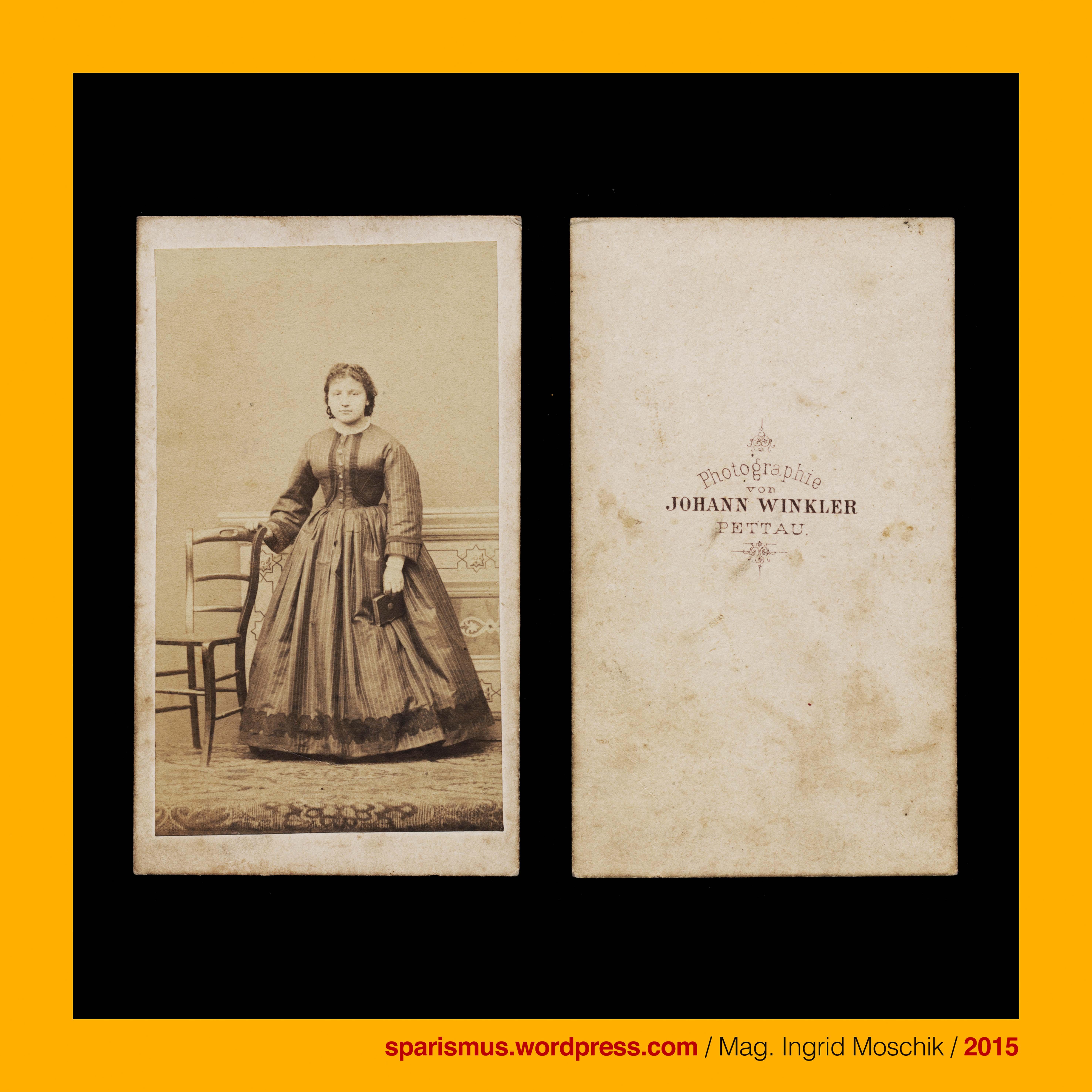 Johann Winkler graph Pettau Ptuj stehende Dame Atelier