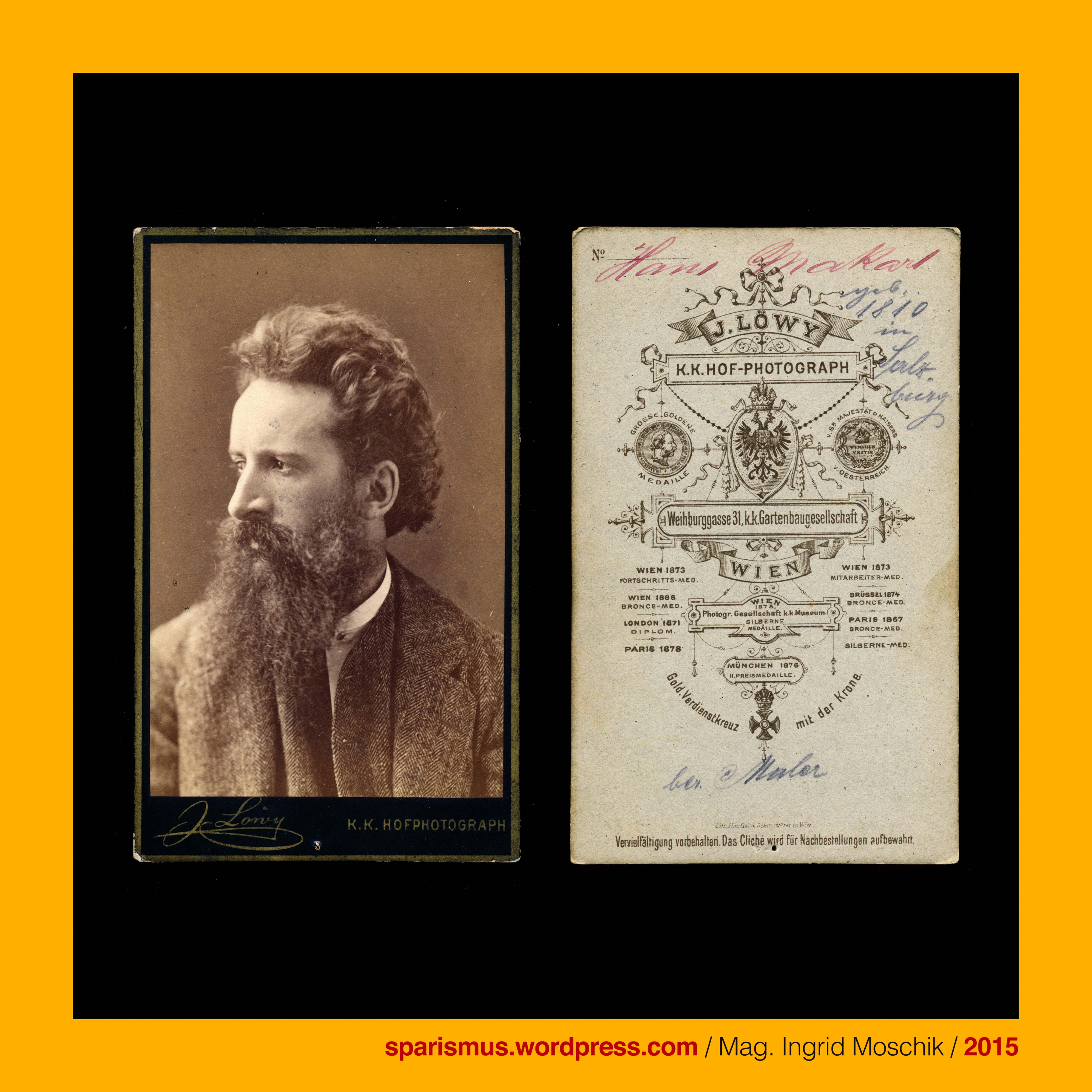 Josef Lowy Fotograf In Wien Stadt Weihburggasse 31 Hans Makart Maler Dekorationskunstler Um 1880