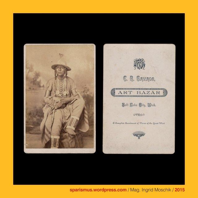 "C. R. Savage, Charles R. Savage, Charles Roscoe Savage (1832 Southampton England – 1909 Salt Lake City Utah) – Anglo-American photographer of the American West, Salt Lake City - Utah, Utah Shoshone warrior, Utah Shoshone warrior, Shoshone – Native American tribe, Shoshine = Shoshoni = Shoschonen ""Grass House People"" – Numic sosoni ""high-growing grass"" – Numic soshoni ""grass homes"", The Austrian Federal Chancellery, Bundeskanzleramt Österreich, BKA, Ballhausplatz 2, Sparismus, Sparen ist muss,  Sparism, sparing is must Art goes politics, Zensurismus, Zensur muss sein, Censorship is must, Mag. Ingrid Moschik, Mündelkünstlerin, ward artist, Staatsmündelkünstlerin, political ward artist, Österreichische Staatsmündelkünstlerin, Austrian political ward artist"