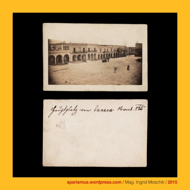 "Gustavo Bausman Fotografo Oaxaca, Bausman – Mexican photographer in Oaxaca in the 1860s, Anonymus, anonymous, undidentified, Podmanitzky family – noble family in the Kingdom of Hungary, Podmanin – little village near Povaszska Bystriza Slovakia, Podmanin = Podamanyn = Podmaninich, Jäger-Lieutenant Baron Podmanitzky, Frigyes Baron Podmaniczky von Aszod und Podmanin (1824-1907) – ungarischer Politiker Theaterindendant Schriftsteller, Mexico – Oaxaca – Oaxaca de Juarez, Mexico – Oaxaca – Oaxaca de Juarez – Alameda de Leon, Mexico – Oaxaca – Oaxaca de Juarez – Basilica de Nuestra Senora de la Soledad (1682-90 – today), Mexico – Oaxaca = Nahuatl-Sprache Huaxyacac ""der Ort an der Spitze der Weisskopfmimose"" = huaxin ""Weisskopfmimose"" + yacatl ""Nase"", Mexico – Oaxaca = Nahuatl Huaxyacac Guaxyacac ""place of guaje tree"", Mexico – Oaxaca – Oaxaca de Juarez – Basilica of Our Lady of Solitude (1682-90 – today), Alameda = Pappelallee Baumallee Allee Promenade Platz = Spanish alamo ""cottonwood tree Pappel"", Alameda = Spanish alno ""alder Aller Alder Erle"" = latin alnus ""alder tree"", Mexico – Ciudad de Mexico = Mexico City = Mexico Stadt, Mexico - Ciudad de Mexico - Alameda Central, Mexico - Ciudad de Mexico - Alameda de Bucareli, Mexico - Ciudad de Mexico - Paseo de Bucareli, Mexico - Ciudad de Mexico - Paseo de la Reforma, Mexico - Ciudad de Mexico – Fuente de la Diana Cazadora (1938 – today), Antonio María de Bucareli y Ursúa (1717 Sevilla – 1799 ciudad de Mexico) - Spanish military officer, governor of Cuba, and viceroy of New Spain (1771—1779), Maximilian I. von Mexiko (1832 Schloss Schönbrunn Wien Österreich - 1867 Santiago de Queretaro Mexiko) – Kaiser von Mexiko 1864-67, Maximilian I of Mexico (1832 Schönbrunn Vienna Austria - 1867 Santiago de Queretaro Mexico) - Emperor of Mexico 1864-67, Mexico – Puebla – ""Puebla"" = Heroica Puebla de Zaragoza (1531 bis heute), Mexico – Puebla – Puebla - Templo de San Cristobal = Church of San Cristóbal (1676-87), Mexico – Puebla – Puebla - Sitio de Puebla = Siege of Puebla (1863), Mexico - Veracruz - Cordoba, Mexico - Veracruz - La villa de Cordoba, Mexico - Veracruz - Catedral de Cordoba (1618-1725 – today), Mexico - Veracruz - Cordoba - Cathedral of the Immaculate Conception, Mexico - Veracruz - La Plaza Principal de Cordoba, Mexico - Veracruz - Parque 21 de Mayo de 1821 de Cordoba, Mexico - Veracruz - Obelisque de Parque 21 de Mayo de Cordoba, Mexico - Veracruz - (Portal de) La Gloria en Cordoba, The Austrian Federal Chancellery, Bundeskanzleramt Österreich, BKA, Ballhausplatz 2, Sparismus, Sparen ist muss, Sparism, sparing is must Art goes politics, Zensurismus, Zensur muss sein, Censorship is must, Mag. Ingrid Moschik, Mündelkünstlerin, ward artist, Staatsmündelkünstlerin, political ward artist, Österreichische Staatsmündelkünstlerin, Austrian political ward artist"