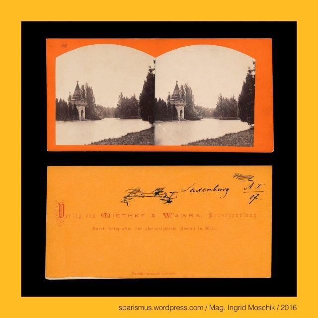 """Miethke & Wawra, Verlag Miethke & Wawra in Wien, Miethke & Wawra (1861 – 1874 Kunst- und Photohandlung in Wien), Hugo Othmar Miethke (1834 Potsdam – 1918 Gutenegg bei Cilli), Carl Josef Wawra (1839 Wien - 1905 Wien), Laxenburg - Schlösser von Laxenburg – Mödling - Niederösterreich – Österreich, Laxenburg - Laxenburg bei Wien, Laxenburg - Franzensburg (1801-36 bis heute) - Wasserburg in Mödling bei Wien, Laxenburg - Lachsendorf (um 1135) – Lachsenburg (15. Jahrhundert), Laxenburg - Etymologie 1 - mhd. Lachtendorp Lochtendorp """"Dorf an der Lachte Lochte Lachse Laxe Lacke Lache"""" - Lochau Lobau, Wien - I. Innere Stadt – Schottengasse, Wien - I. Innere Stadt – Topos des Palais Ephrussi (1873 bis heute), Wiener Evangelische Schule am Karlsplatz (1862 bis heute), Wiener Polytechnikum = k.k. Polytechnicum Wien, polytechnische Hochschule = polytechnische Bildungsanstalt, k.k. polytechnisches Institut Wien (1815 – 1872), Wiener Technische Hochschule = TH Wien (1872 – 1975), Wiener Technische Universität = TU Wien (1975 bis heute), Vienna University of Technology, Schloss Schönbrunn bei Wien, Schönbrunn bei Wien, Schönbrunner Schlosslöwen (1770er bis heute), Schönbrunner Schlosssphingen (1780er bis heute), Schönbrunner Schlossbrücke, Wienfluss, Wienflussbrücke, Schönbrunner Vorplatz, Schönbrunner Hauptportal, #38000, #631, The Austrian Federal Chancellery, Bundeskanzleramt Österreich, BKA, Ballhausplatz 2, Sparismus, Sparen ist muss,  Sparism, sparing is must Art goes politics, Zensurismus, Zensur muss sein, Censorship is must, Mag. Ingrid Moschik, Mündelkünstlerin, ward artist, Staatsmündelkünstlerin, political ward artist, Österreichische Staatsmündelkünstlerin, Austrian political ward artist"""