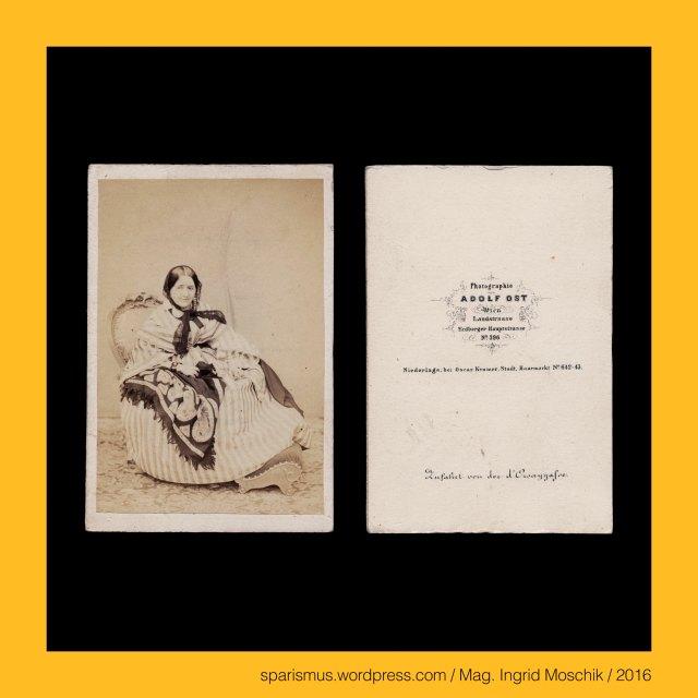 """A. Ost, Adolf Ost (in den 1860ern als Photograph in Wien aktiv), A. Amonesta - Buchhandlung in Wien I. Innere Stadt Bognergasse 315, A. Schlipps - Buchhandlung in Wien I. Innere Stadt Bognergasse 315, C. Jos. Rospini – Wien Kärnthnerstrasse 1074, Carl Joseph Rospini - Wiener Drechsler Optikus Fotohändler in den 1850-60ern, Eduard Sieger d. Ä. (1810 - 1876) - Wiener Buchdrucker Steindrucker und Verleger K.K. ldbf. lith. Anst. v. E. Sieger Wien, Kaiserlich Königlich landesbefügte litographische Antstalt von Eduard Sieger in Wien, Wien IX. Alsergrund – D'Orsaygasse (1847 bis heute), Wien IX. Alsergrund – Dominika Gräfin Grimaud d'Orsay (1789-1847) – geborene Gräfin Lodron-Laterno, Wien IX. Alsergrund – Etymologie 1 – Latin Ursus """"ours bear Bär"""" - Gallo-Latin Orcius - Orcecum (9. JH) – Villa Orceacus (11. JH) – Orceiacus Ourcet Orcei Orsei Orsai Orsay, Wien I. Innere Stadt – Rotenturmstrasse 19 = Haarmarkt = Am Haarmarkt = Flachsmarkt (um 1270 bis um 1860), Wien I. Innere Stadt – Rotenturmstrasse 19 – Topologie zwischen Lichtensteig Ecke Lugeck und Fleischmarkt (schon 1288 – noch 1848), Wien I. Innere Stadt - Laurenzerberg (1857 bis heute) - Topologie zwischen Fleischmarkt und Donaukanal, Wien I. Innere Stadt – Laurenzergasse = Laurenzer Gasse (um 1830 bis 1857), Wien I. Innere Stadt - Laurenzertor (1819 bis 1858) - Fussgängertor in der Kurtine zwischen Kleiner Gonzagabastei und Biberbastei, Wien I. Innere Stadt - Laurenzergebäude (1797 bis 1782) – 1782 aufgelassen – 1797 Farbenfabrik - 1819 ärarisches Objekt Postamt Hauptpost, Wien I. Innere Stadt - Kirche und Kloster der Laurenzerinnen (1660 bis 1782), Wien I. Innere Stadt - Kirche und Kloster """"Zum Heiligen Laurenz"""" Dominikanerinnen (bis 1349), Wien I. Innere Stadt - Heilige Laurenz = Laurentius von Rom (*Laurentum bei Ostia bis 258 Rom) – römischer Diakon und Märtyrer, Schloss Schönbrunn bei Wien – lebender Zaun, Schloss Schönbrunn bei Wien – schmiedeeiserner Zaun, Wien XIII. Hietzing – Schloss Schönbrunn (1638-1780 """