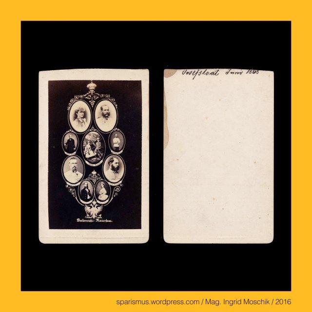 """F. A. G. Gallrein, F.A.G. Gallrein – Fotograf in Berlin von etwa 1865 bis circa 1875, #ViribusUnitis, viribus unitis - Wahlspruch von Franz Joseph I. von Österreich-Ungarn, viribus unitis """"mit vereinten Kärften"""" – lat. vis """"Kraft + unire """"vereinen"""", composite of Austrian Imperial Family, composite of Austrian Imperial House, composite of Austrian Imperial Dynasty, Mosaik-Bild des Kaiserhaus Österreich, Österreich's Kaiserhaus, Kaiserhaus Österreich - Kaiser Franz Joseph I. - Kaiserin Marie Elisabeth - Erzherzog Rudolph - Erzherzogin Gisela, Kaiser Franz Joseph I. - Franz Joseph I. - gebürtig Erzherzog Franz Joseph Karl von Österreich, Kaiserin Marie Elisabeth - Elisabeth Amalie Eugenie - Herzogin in Bayern (auch Sisi genannt, seit den Ernst-Marischka-Filmen auch als Sissi bekannt), Rudolph, Rudolf, Rudolf - Kronprinz von Österreich und Ungarn (vollständiger Vorname Rudolf Franz Karl Joseph), Gisela - Gisela Louise Marie Erzherzogin von Österreich - Prinzessin von Bayern, Franz Carl - Erzherzog Franz Karl Joseph von Österreich, Ludwig Victor - Erzherzog Ludwig Viktor Joseph Anton von Österreich, Albrecht - Erzherzog Albrecht Friedrich Rudolf von Österreich-Teschen, Carl Ludwig - Erzherzog Karl Ludwig Joseph Maria von Österreich, Maximilian - Erzherzog Ferdinand Maximilian Joseph Maria von Österreich, Charlotte - Marie Charlotte Amélie Augustine Victoire Clémentine Léopoldine, The Austrian Federal Chancellery, Bundeskanzleramt Österreich, BKA, Ballhausplatz 2, Sparismus, Sparen ist muss, Sparism, sparing is must Art goes politics, Zensurismus, Zensur muss sein, Censorship is must, Mag. Ingrid Moschik, Mündelkünstlerin, ward artist, Staatsmündelkünstlerin, political ward artist, Österreichische Staatsmündelkünstlerin, Austrian political ward artist"""