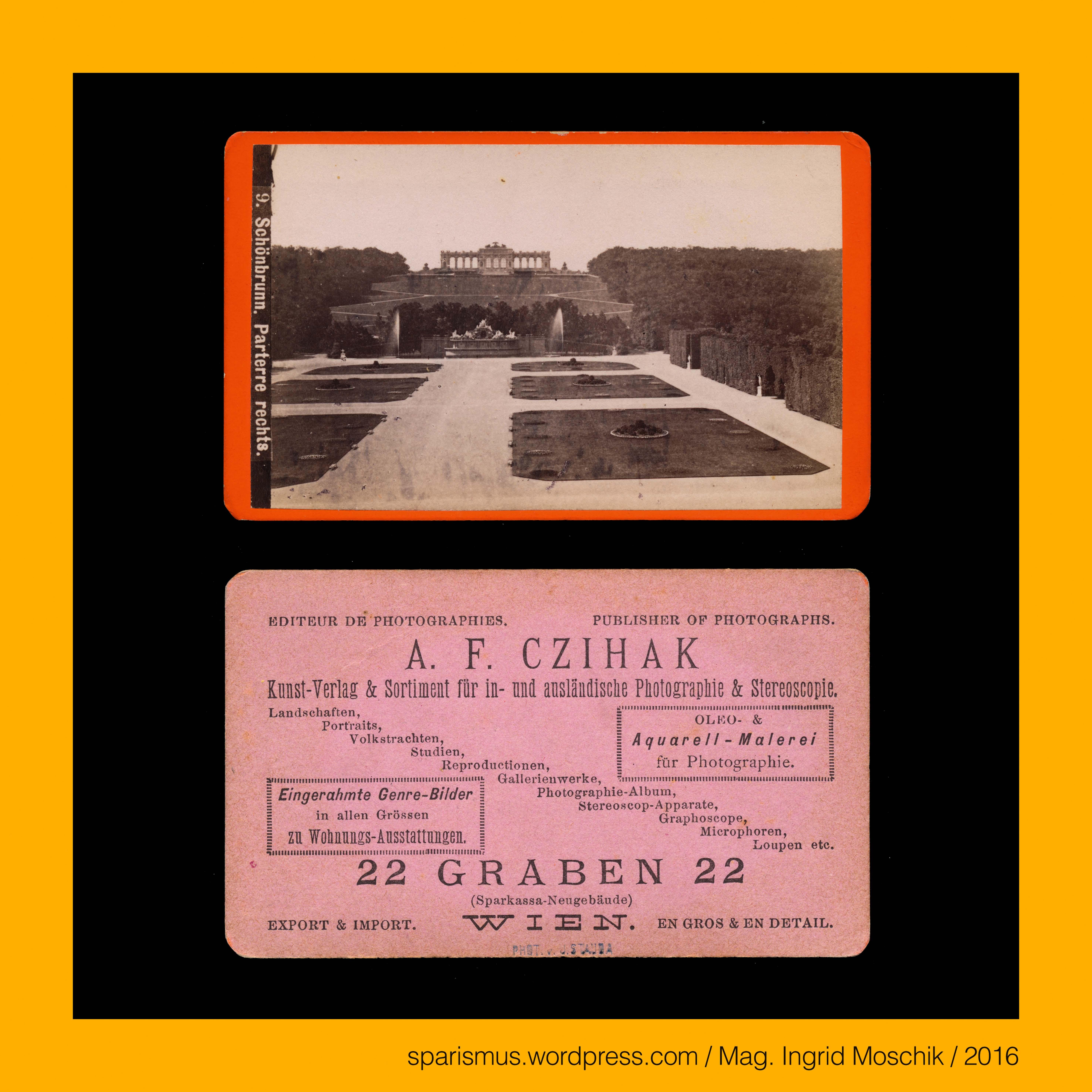 J. Stauda, Fotograf, A. F. Czihak, Kunstverlag, #Wien, #9 ...