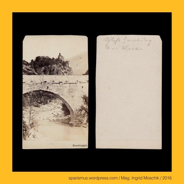 """Moosbrugger. P. Moosbrugger, Peter Moosbrugger (1831-1883 Meran) – Südtiroler (Wander-)Fotograf in Meran der 1850-70er, August Moosbrugger – Südtiroler (Wander-)Fotograf in Meran der 1850-70er, Gebrüder Moosbrugger - Südtiroler (Wander-)Fotografen der 1850-70er, Meran = Merano = spätlat. Mairania = lat. Maran(um) – zweitgrösste Stadt in Südtirol (1857 bis heute), Meran = Merano = spätlat. Mairania = lat. Marianum – Etymology 1 – lat. Marius + -anum """"place belonging to Marius family, Meran = Merano = spätlat. Mairania = lat. Marianum – Etymology 2 – pre-lat. marra """"heap of stones"""", Meran = Merano = spätlat. Mairania = lat. Marianum – Etymology 2 – pre-lat. mara """"stream"""", Passeiertal = Passeier = Passiria = Val Passiria – Gebirgstal in Südtirol nördlich von Meran, Passer = Passirio – knapp 43 Kilometer langer Fluss in Südtirol vom Timmelsjoch bis Meran (Einmündung in die Etsch), Passeier = Passeyer = Parseyer = Parseyr – Etymologie 1 – rätoromanisch pra de sura = prasura """"obere Wiese"""" – prater + supra, Meran = Merano - Steinerner Steg = Ponte di Pietra (1617 bis heute) – zweibögige Steinbrücke über die Passer, Zenoburg = Zenoberg = Castel San Zeno – Dorf Tirol bei Meran in Südtirol (vor 1237 bis heute), Zeno of Verona = Zenone da Verona – legendären (Seelen-)Fischer an der Etsch, Zeno von Verona (um 300 Mauretanien – um 380 Verona) – um 360 Bischof von Verona, Zeno = Zenon = Zenone """"Zeus-Diener"""" - Zeus """"Gott """" – Etymologie 1 idg. *diu- """"hell taghell Tag"""" – idg. *deiwos """"göttlich Gott"""" – lat. deus – germ. Tyr, Meran, Zenoberg = Monte San Zeno – Ortsteil von Dorf Tirol bei Meran in Südtirol, The Austrian Federal Chancellery, Bundeskanzleramt Österreich, BKA, Ballhausplatz 2, Sparismus, Sparen ist muss,  Sparism, sparing is must Art goes politics, Zensurismus, Zensur muss sein, Censorship is must, Mag. Ingrid Moschik, Mündelkünstlerin, ward artist, Staatsmündelkünstlerin, political ward artist, Österreichische Staatsmündelkünstlerin, Austrian political ward artist"""