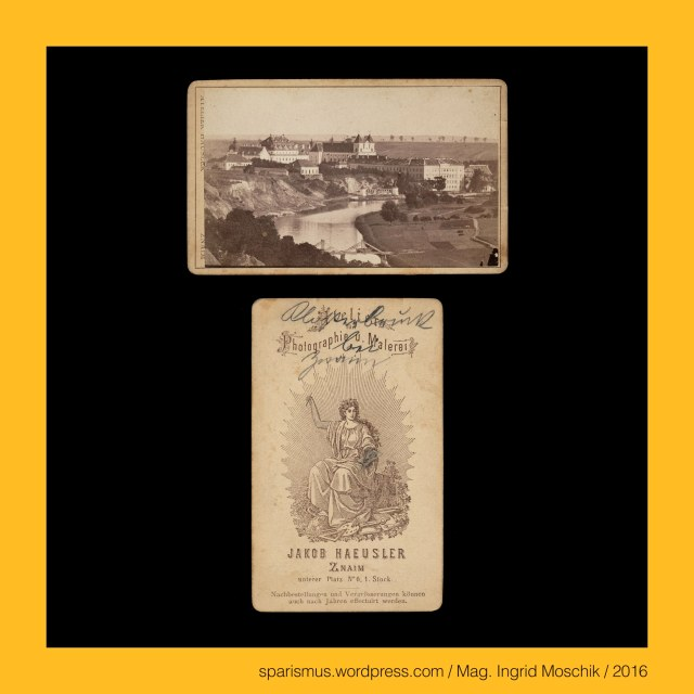 "Jakob Häusler, Jakob Häusler Znaim, Jakob Häusler – österreichischer Maler und Fotograf in Znaim in den 1860ern und 1870ern, #Znaim, #Znojmo, Znaim = Znojmo – Stadt an der Thaya in Südmähren (1278 bis heute), Znaim = Znojmo – Etymologie 1 Znoima = Znojem = Znoiem (1066) = Znoyem (1131) – (griechisch) synaimos ""blutsverwandt oder geschisterlich"", Znaim = Znojmo – Etymologie 1 – (griechisch) synaimos ""von der gleichen Sippe"" – Greek syn + haima ""of the same blood"" - PIE *(k)sun- ""together with alike jointly"" + PIE *sai- ""thick liquid"", Znaim = Znojmo – Klosterbruck = Kloster Louka = Loucky klaster = Klaster v Louce (1190 bis 1784 bis heute), Znaim = Znojmo – Klosterbruck = Kloster Louka – Etzymologie 1 Svata Louka ""Heilige Wiese"" – PIE *louk- ""low-lying meadow or pasture near a river"", The Austrian Federal Chancellery, Bundeskanzleramt Österreich, BKA, Ballhausplatz 2, Sparismus, Sparen ist muss,  Sparism, sparing is must Art goes politics, Zensurismus, Zensur muss sein, Censorship is must, Mag. Ingrid Moschik, Mündelkünstlerin, ward artist, Staatsmündelkünstlerin, political ward artist, Österreichische Staatsmündelkünstlerin, Austrian political ward artist"