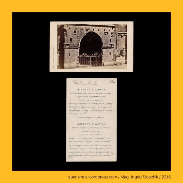 """Dr. Timm Starl (*1939 Wien - ) - österreichischer Kulturwissenschaftler Fotohistoriker Ausstellungskurator FOTOGESCHICHTE-Gründer, Miethke & Wawra, Verlag Miethke & Wawra in Wien, Miethke & Wawra (1861 – 1874 Kunst- und Photohandlung in Wien), Hugo Othmar Miethke (1834 Potsdam – 1918 Gutenegg bei Cilli), Carl Josef Wawra (1839 Wien - 1905 Wien), Wien - I. Innere Stadt – Stephansdom – Riesentor (1230-50 bis heute), Wien - I. Innere Stadt – Stephansdom – Riesentor = Hauptportal = Giant's Gate = Front Gate, Wien – I. Innere Stadt – Stephansdom – Lacknerscher Epitaph mit Christus am Ölberg von Getsemani (1502 bis heute), Lienhard Lackner = Leonhart Lackner (? Wiener Neustadt – 1517 Wien) – Wiener Kaufmann und  Bürgermeister (1502), Getsemani (auch Gethsemani und Gethsemane) (von hebräisch גת שמנים Gat-Schmanim – Ölpresse) – Ort am Fusse des Ölbergs in Jerusalem, Wien – I. Innere Stadt – Kohlmarkt 6 – """"Café Fetzer"""" (1852-1874), Wien – II. Leopoldstadt – Praterstrasse 8 bzw. Untere Donaustrasse 7 = Haus Dittmann (1833-1956) - Kaffeehaus Fetzer (1874), Wien – II. Leopoldstadt – Praterstrasse 4-6 – Café Stierböck (1790 bis nach 1839), Georg Fetzer ( ? Würzburg – 1874 Wien) – Wiener Kaffeehaus-Betreiber (1852-1874), Johannes Capistranus (1386 Capistrano L'Auila – 1456 Ilok Vukovar) - Wanderprediger Heerführer Inquisitor Judenverfolger, Johannes Capistranus = Giovanni da Capistrano (1386 – 1456) - Wanderprediger Heerführer Inquisitor Judenverfolger, Johannes Capistranus = John of Capitrano = Giovanni da Capistrano – Schutzpatron der Rechtsanwälte und Militärseelsorger, Wien - I. Innere Stadt – Stephansdom – Capistrankanzel - ehemals hölzerne Erhöhung am Stephansfreithof (um 1430-50), Wien - I. Innere Stadt – Stephansdom – Capistrankanzel (1451-1752 bis heute) – gothische Sandstein-Kanzel aussen an der Nordostseite, Wien - I. Innere Stadt – Stephansdom – Capistrankanzel = Capitran-Kanzel mit barockem Figuren-Überbau (1752 bis heute), Schwarzenberg-Denkmal (1867 bis heute), Kar"""