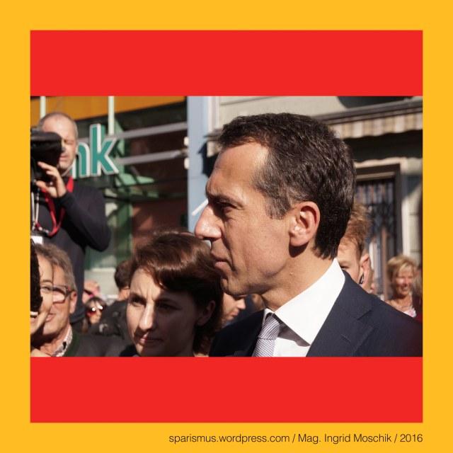 """""""Die KERN-BIM"""" - Bundeskanzler Christian Kern in Graz, Jakominiplatz, 28. September 2016"""