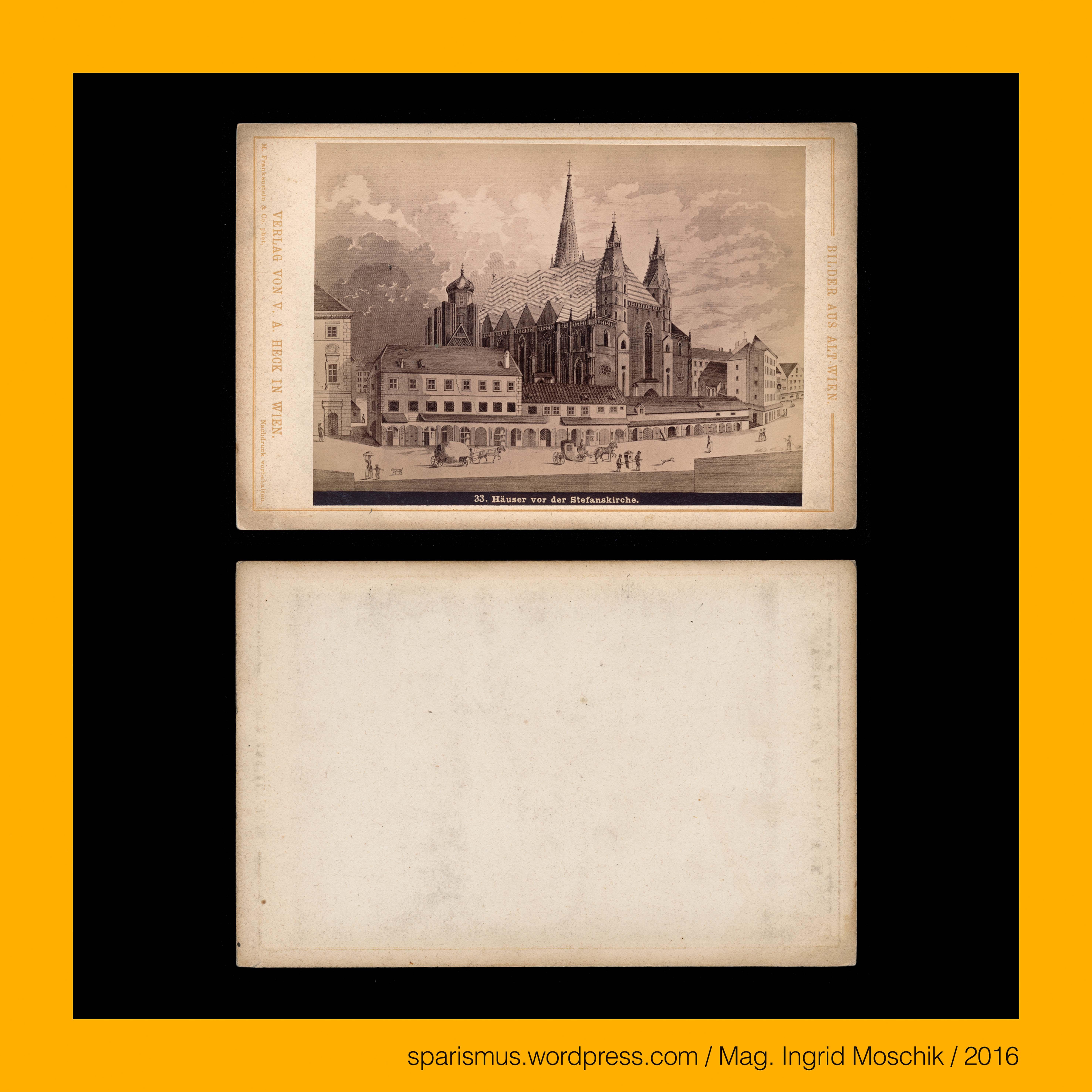 "V A Heck Verlag von V A Heck in Wien Valentin Andreas Heck 1842 Wien """