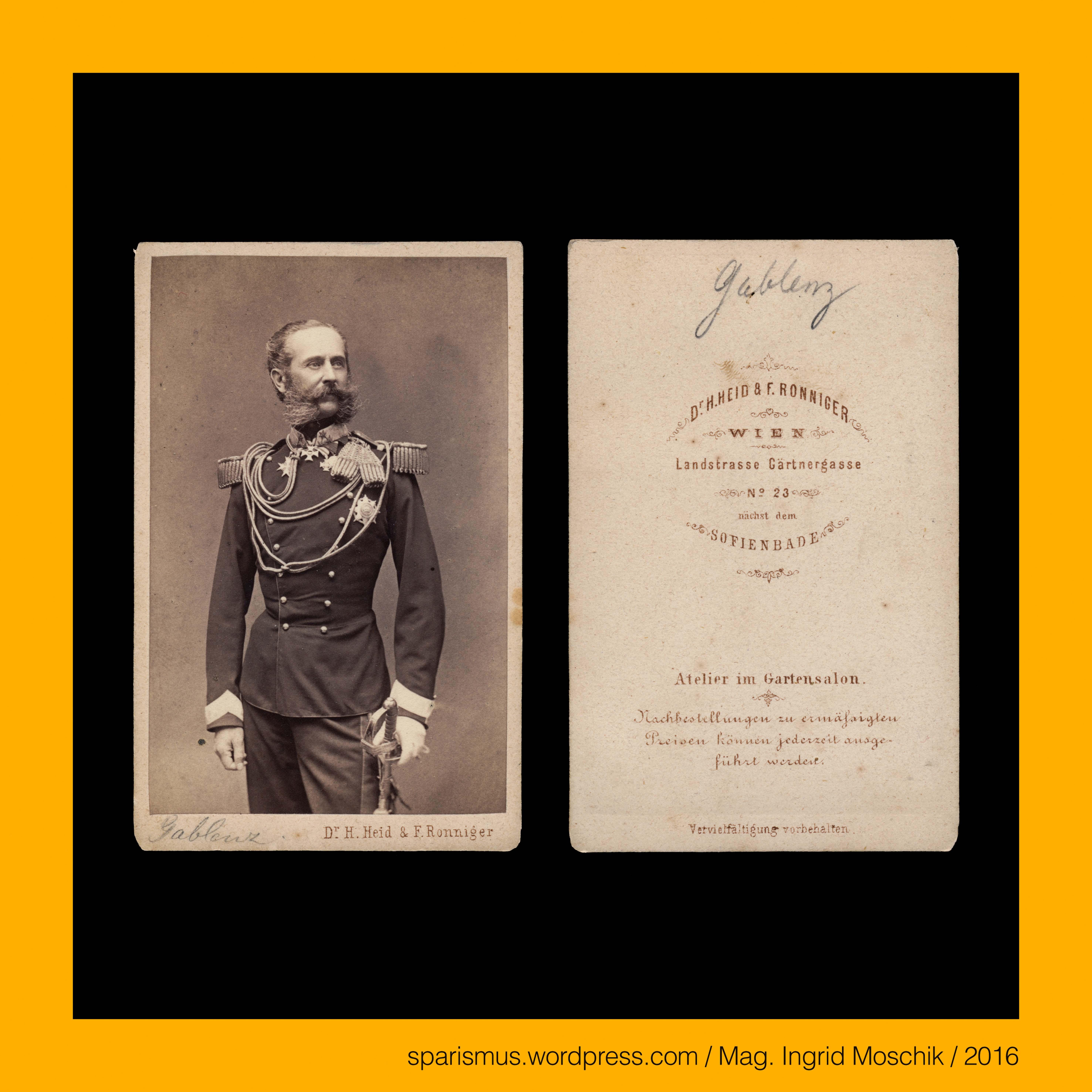 Dr Hermann Heid Ferdinand Ronniger Wien Ludwig Von Gablenz Kuk General Der Kavallerie Um 1868