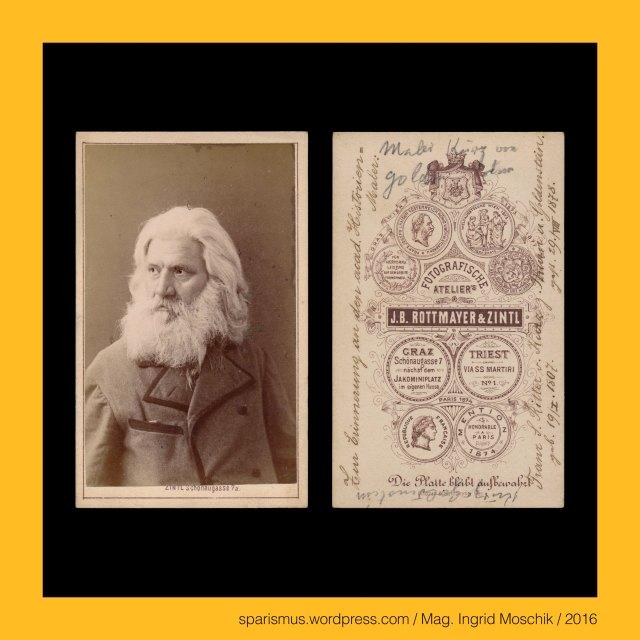 """J. B. Rottmayer, Johann B. Rottmayer, Johann Batta Rottmayer, Johann Batta Rottmayer – k.u.k. Fotounternehmen, Johann B. Rottmayer (1826 Wien? – um 1897 Triest?) – aktiv als Photograph von etwa 1859 bis etwa 1897 in Wien Brünn Graz Rohitsch Laibach Triest Görz München Berchtesgaden, Rottmayer = Rott + Mayer = PIE *reud *reu- roden reissen Wurzelstöcke ausreissen urbar machen = urbar gemachtes Stück Land, Rottmayer = Rott + Mayer = Meier = königlicher bedeutender grösserer Haus-Verwalter = maior domus = Haupthof-Verwalter = Meierhof-Verwalter = Gutshof-Verwalter = Gutsverwalter, Rottmayer = """"oberster Verwalter eines gerodeten Stück Landes"""", Wien IV. Wieden - Mayerhofgasse (vor 1905 bis heute), Wien IV. Alte Wieden - Maierhofgasse (1830-1905), Wien IV. Alte Wieden - Mayerhöfel-Gasse (1778-1830), Wien IV. Alte Wieden - Favoriten-Allee (bis 1778), la fille en plein air, Freiluft-Portrait eines Mädchens, Thonet Stuhl Nr. 4 (ab 1850 in Produktion), Otto Zintl, Otto Zintl – Fotograf – Graz VI Jakomini Haynaugasse No. 197, Otto Zintl (1832 München – 1903 Graz) – deutsch-österreichischer Fotograf in Graz von etwa 1860-1903, Zintl = Etymologie 1 Zintel Zintler Zintlhuber – Zint Zent Zenz - Vinzenz – Latin vincentius """"the conquering or der Siegende"""" – Latin victor """"conqueror Sieger"""", Zintl - Etymologie 1 Zintel Zintler Zintlhuber - Zint Zent Zenz - Vinzent Vinzenz - Latin vincentius victor - PIE *weik- """"to fight or to defeat"""", Zintl = """"kleiner Zentius Vinzentius Siegender Kämpfer Fighter"""", Graz – VI. Jakomini – Haynaugasse 197 = Schönaugasse 9, Graz - VI. Jakomini - Schönaugasse (1813 bis heute) = Haynaugasse (1853-1863) = Heustadlgasse, Julius Jakob Freiherr von Haynau (1786 Kassel – 1853 Wien) – k.k. Militär – begraben am Grazer Sankt-Leonhard-Friedhof, Julius von Haynau (1786 Kassel – 1853 Wien) – k.k. Geheimer Rat und Kämmerer und Feldzeugmeister, Julius von Haynau = Engel von Brescia = Hyäne von Brescia (Iena di Brecia) = Weiberpeitscher (Misshandlungen von Frauen), Franz"""
