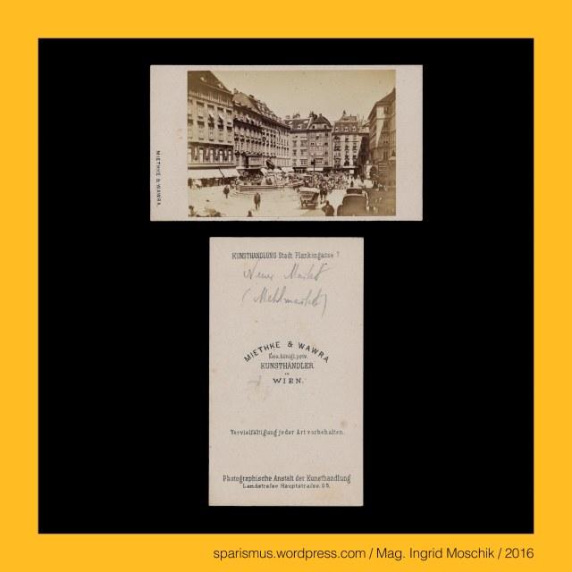 Dr. Timm Starl (*1939 Wien - ) - österreichischer Kulturwissenschaftler Fotohistoriker Ausstellungskurator FOTOGESCHICHTE-Gründer, Miethke & Wawra, Verlag Miethke & Wawra in Wien, Miethke & Wawra (1861 – 1874 Kunst- und Photohandlung in Wien), Hugo Othmar Miethke (1834 Potsdam – 1918 Gutenegg bei Cilli), Carl Josef Wawra (1839 Wien - 1905 Wien), Wien – I. Innere Stadt – Neuer Markt (Mehlmarkt) (1234 bis heute), Schloss Schönbrunn bei Wien, Schloss Schönbrunn bei Wien – lebender Zaun, Schloss Schönbrunn bei Wien – schmiedeeiserner Zaun, Wien XIII. Hietzing – Schloss Schönbrunn (1638-1780 bis heute), Wien – Salztorbrücke – Verbindung zwischen 1. und 2. Bezirk über den Donaukanal, Wien – Salztorbrücke – Karlskettensteg = Karls-Kettensteg = Karls-Steg (1827-1884), Wien – Salztorbrücke – Carlskettensteg = Carls-Kettensteg = Carls-Steg (1827-1884), Wien – Salztorbrücke – Stephaniebrücke (1884-1919), Wien – Salztorbrücke (1919 bis heute), #38000, #631, #999, The Austrian Federal Chancellery, Bundeskanzleramt Österreich, BKA, Ballhausplatz 2, Sparismus, Sparen ist muss,  Sparism, sparing is must Art goes politics, Zensurismus, Zensur muss sein, Censorship is must, Mag. Ingrid Moschik, Mündelkünstlerin, ward artist, Staatsmündelkünstlerin, political ward artist, Österreichische Staatsmündelkünstlerin, Austrian political ward artist