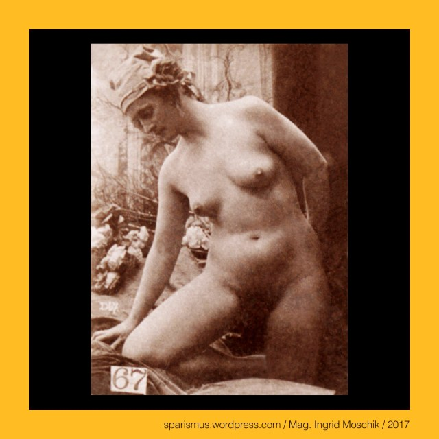 #Otto #Schmidt #Kunstverlag #Wien, #Becs, #Vidni, #Vienna, #Vienne, female nude study, reference sheet, D67, k.u.k. bandana lady of Vienna Hofburg, standing in front of wrapped window, right knee on flower draperies, circa 1895