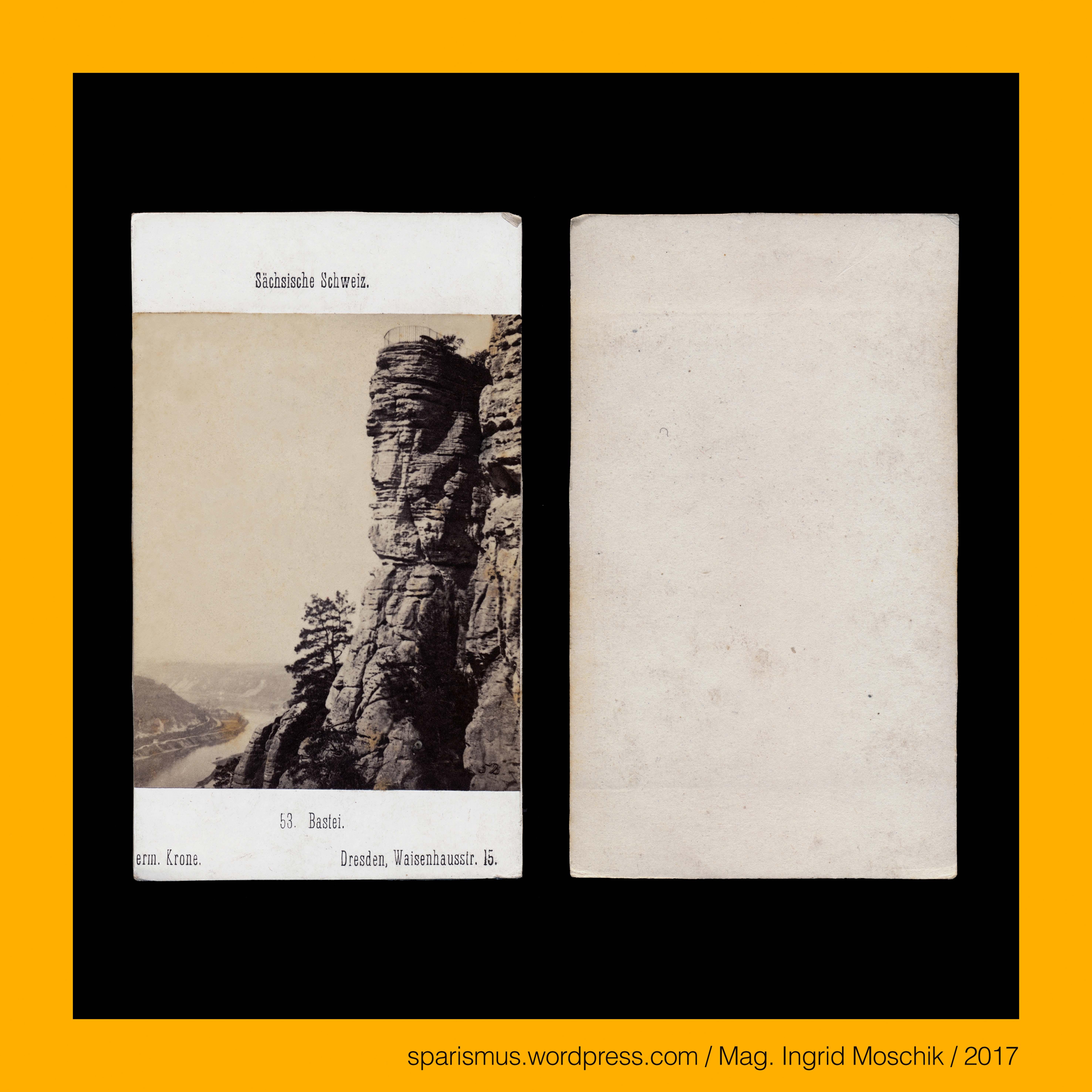 Hermann Krone, #Dresden, cdv-53, #Bastei, #Wartturm, #Elbe, #Elbtal ...