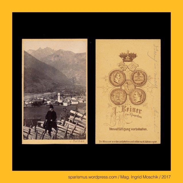 """Prof. J. Reiner, Prof. J. Reiner - Maler und Fotograf in Klagenfurt etwa 1862 bis etwa 1876, Prof. Johann Reiner, Prof. Johann Reiner (1825 Wien – 1897 Klagenfurt) - Fotograf in Klagenfurt etwa 1862 bis etwa 1876 (Verlag Alois Beer), Prof. Johann Baptist Reiner (1825 Wien – 1897 Klagenfurt) – Fotograf Zeichenlehrer (1855-1894) Musiker Volksliedsammler in Klagenfurt, Kärnten – Grosskirchheim-Döllach (1983 bis heute), Kärnten – Mölltal - Grosskirchheim – Döllach – Dolach (1461), Kärnten – Mölltal – Döllach = (slowenisch) dol """"Tal"""" – Proto-Slawisch *dol- """"Tal Niederung Grube"""", Kärnten – Mölltal – Döllach = """"Ort im Tal an der Ach"""", Kärnten – Möll – 80 km langer Fluss vom Grossglockner in die Drau, Kärnten – Möll = (slowensich) Molna – Etymologie 1 PIE *melh = """"(die) Schutt Geröll Gemahle Flussmehl Führende"""", Kärnten – Mölltal – Döllach = (slowenisch) dol """"Tal"""" – PIE *dhel- """"Höhle Höhlung Delle Tal дол"""" und """"Erdhöhle Gewölbe Kuppel Wölbung"""", Kärnten – Grossglockner, Kärnten – Glockner, Kärnten – Grossglocker = Glockner – Etymologie 1 """"kuhglockenförmiger Berg"""", Kärnten – Grossglocker (1799) - Glockner – Gloggner - Glöckelberg - Glockner Berg - Glogger (1583) - Glocknerer (1562), Kärnten – Kleinglockner (3783 m ü.A.) – obere Glocknerscharte trennt ihn vom Grossglockner, Kärnten - Grossglockner = der Glockner = der König (3798 m ü.A.) – Österreichs höchster Berg, Kärnten – Pasterze – 8 km langer Gletscher am Fusse des Grossglockners, Kärnten – Pasterze = Pasterzenkees – Etymologie 1 (slowenisch *pastirica """"Hirtengegend oder Alm-Weiden-Gebiet"""", Kärnten – Pasterze = Pasterzenkees – Pasteier """"kleine Almhütte"""" – (slowenisch) pastir """"Alm-Hirte"""", Kärnten – Heiligenblut, Kärnten - Heiligenblut - Heilige Briccius = Heilige Briktius = Heilige Brikzius = Heilige Brictius = Saint Brice = San Brizio (normannischer Pilger um 900), Kärnten - Heiligenblut - Mölltal - Bricciuskapelle Bricciusweg Bricciusquelle, Kärnten – Spittal an der Drau - Heiligenblut am Grossglockner, Kärnten - Spitta"""