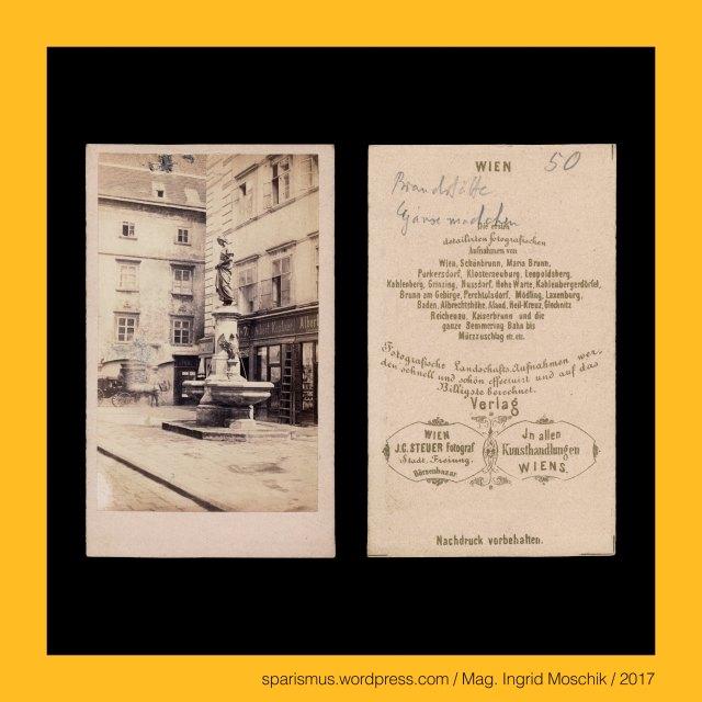 """J. C. Steuer, Josef Carl Steuer (? – 1872 Wien) - Fotograf und Fotoverlag, Josef Carl Steuer – Wien, J. C. STEUER - Fotograf in Wien Stadt Freiung Börsenbazar, J. C. Steuer = Karl Steuer = """"E. Collier"""" (1862 oder 1863), Dr. Timm Starl (*1939 Wien - ) - österreichischer Kulturwissenschaftler Fotohistoriker Ausstellungskurator FOTOGESCHICHTE-Gründer, Wien – I. Innere Stadt – Brandstätte – Strasse zwischen Stephansplatz im Osten und Tuchlauben im Westen (1876 bis heute), Wien – I. Innere Stadt – Brandstätte – Brandstatt (1393) – Unter den Drechseln (1326), Wien – I. Innere Stadt – Brandstätte – Gänsemarkt mit Gänsemädchenbrunnen, Wien – I. Innere Stadt – Brandstätte – Gänsemädchenbrunnen von Anton Paul Wagner (1866 bis 1873), Wien – VI. Mariahilf – Rahlstiege – Gänsemädchenbrunnen von Anton Paul Wagner (1886 bis heute), Antonin Pavel Wagner (1834 Dvur Kralove nad Labem – 1895 Wien) – tschechisch-österreichischer Bildhauer, Anton Paul Wagner (1834 Königinhof an der Elbe – 1895 Wien) – tschechisch-österreichischer Bildhauer, The Austrian Federal Chancellery, Bundeskanzleramt Österreich, BKA, Ballhausplatz 2, Sparismus, Sparen ist muss,  Sparism, sparing is must Art goes politics, Zensurismus, Zensur muss sein, Censorship is must, Mag. Ingrid Moschik, Mündelkünstlerin, ward artist, Staatsmündelkünstlerin, political ward artist, Österreichische Staatsmündelkünstlerin, Austrian political ward artist"""