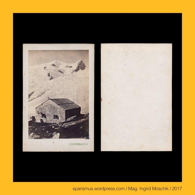 """Johann Unterrainer, Johann Unterrainer – Windischmatrei, Johann Unterrainer – Lienz, Johann Unterrainer (1848 Matrei – 1912 Lienz) – österreichischer Fotograf in Windischmatrei und Lienz, Johann Unterrainer (1848 Matrei – 1912 Lienz) – Fotograf in Windischmatrei (1872-1896) und Lienz (1896-1912), Osttirol – Venedigergruppe – Prager Hütte, Osttirol – Venedigergruppe – Prager Hütte (1872 bis heute), Osttirol – Venedigergruppe – Alte Prager Hütte (1872 bis 1876), Osttirol – Venedigergruppe – Neue Prager Hütte (1877 bis heute), Osttirol – Venedigergruppe – Grossvenediger, Osttirol – Venedigergruppe – Grossvenediger – stark vergletscherter Gipfel mit einer Höhe von 3657 m ü.A., Osttirol – Venedigergruppe – Grossvenediger (1797 bis heute) – Etymologie 1 """"von den Venedigern benutzter Gebirgspass"""", Osttirol – Venedigergruppe – Schlatenkees – in Osttirol liegender circa 6 km langer Talgletscher, Osttirol – Venedigergruppe – Schlatenkees – Etymologie 1 """"in einer Schlucht verlaufender Gletscher"""", Osttirol – Venedigergruppe – Schlatenkees – Etymologie 1 PG *slad- *slado """"valley Tal Niederung Schlucht"""" + PG *ges- *gesto """"gefroren eisig hart fest rauh"""", The Austrian Federal Chancellery, Bundeskanzleramt Österreich, BKA, Ballhausplatz 2, Sparismus, Sparen ist muss, Sparism, sparing is must Art goes politics, Zensurismus, Zensur muss sein, Censorship is must, Mag. Ingrid Moschik, Mündelkünstlerin, ward artist, Staatsmündelkünstlerin, political ward artist, Österreichische Staatsmündelkünstlerin, Austrian political ward artist"""