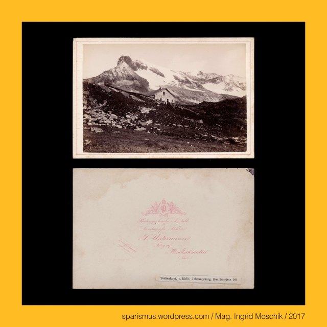 """Johann Unterrainer, Johann Unterrainer – Windischmatrei, Johann Unterrainer – Lienz, Johann Unterrainer (1848 Matrei – 1912 Lienz) – österreichischer Fotograf in Windischmatrei und Lienz, Johann Unterrainer (1848 Matrei – 1912 Lienz) – Fotograf in Windischmatrei (1872-1896) und Lienz (1896-1912), Salzburg - Weißsee – Rudolfshütte (1873 bis 1952), Salzburg - Weißsee – Berghotel Rudolfshütte (1958 bis heute), Salzburg – Hohe Tauern – Glocknergruppe – Totenkopf = Todtenkopf, Salzburg – Hohe Tauern – Glocknergruppe – Totenkopf – 3151 m ü.A. hoher Berg in den Zentralalpen, Salzburg – Hohe Tauern – Glocknergruppe – Hohe Riffl, Salzburg – Hohe Tauern – Glocknergruppe – Hohe Riffl = Hohe Riffel, Salzburg – Hohe Tauern – Glocknergruppe – Hohe Riffl – 3338 m ü.A. hoher Berg in den Zentralalpen, Salzburg – Hohe Tauern – Glocknergruppe – Johannisberg, Salzburg – Hohe Tauern – Glocknergruppe – Johannisberg = Keeserkopf = Herzoghut, Salzburg – Hohe Tauern – Glocknergruppe – Johannisberg – 3453 m ü.A. hoher Berg in den Zentralalpen, Salzburg - Stubach = Stubache - Stub-Ache – ein rechter Nebenfluss der Salzach, Salzburg – Stubach (1272 bis heute) – Stobach (12. Jh.) - Etymologie 1 """"stiebender = staubender Bach"""", Salzburg - Weißsee – 1936 errichteter Gebirgsstausee durch Ausbau des vorgefundenen Gletscherschmelzsee, Salzburg – Uttendorf an der Salzach bei der Einmündung der Stubache aus dem Stubachtal, Salzburg - Tennengebirge – Tauernkogel – ein 2247 m.A. hoher Berg, The Austrian Federal Chancellery, Bundeskanzleramt Österreich, BKA, Ballhausplatz 2, Sparismus, Sparen ist muss,  Sparism, sparing is must Art goes politics, Zensurismus, Zensur muss sein, Censorship is must, Mag. Ingrid Moschik, Mündelkünstlerin, ward artist, Staatsmündelkünstlerin, political ward artist, Österreichische Staatsmündelkünstlerin, Austrian political ward artist"""