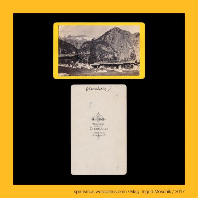 """A. GABLER, A. Gabler – Interlaken, Johann Adam Gabler (1833-1888) – Schweizer Fotograf von etwa 1861 bis 1888, Johann Adam Gabler (1833 Ottowind in Sachsen DE – 1888 Interlaken CH) – schweizerischer Photograph des 19. Jahrhunderts, Arthur Gabler – Sohn von Johann Adam Gabler und Schweizer Fotograf von etwa 1888 bis nach 1900, Schweiz – Berner Oberland – Handegg = Handeck, Schweiz – Berner Oberland – Handegg = Handeck – """"Hangeck"""" - Etymologie 1 """"Ort an der überhängenden Bergkante"""", Schweiz – Berner Oberland – Handeggfall = Handeckfall, Schweiz – Berner Oberland – Handegg = Handeck - village in the municipality of Guttannen near Lake Gelmersee, Schweiz – Berner Oberland – Chalets a Handeck, Schweiz – Berner Oberland – Gasthaus auf der Handeck, Swiss – Berese Oberland – Inn on the Handeck, Suisse – Oberland Bernois – Auberge sur la Handeck, Schweiz – Berner Oberland – Handeck = Handegg – La Chute de l'Aar, Schweiz – Berner Oberland - Interlaken, Schweiz – Berner Oberland - Interlaken – circa 5700 Einwohner zählende Gemeinde zwischen Thunersee und Brienzersee, Schweiz – Berner Oberland - Interlaken - lateinisch """"Inter Lacus = zwischen den Seen gelegen"""", Schweiz – Berner Oberland – Reichenbach = Rychenbach, Schweiz – Berner Oberland – Reichenbach – Nebenfluss der Aare, Schweiz – Berner Oberland – Aare = Aar = Arole, Schweiz – Berner Oberland – Aare – 288 km langer Fluss in der Schweiz mit Einündung in den Rhein, Schweiz – Berner Oberland – Aare – Latin Arula = Arola = Araris, Schweiz – Berner Oberland – Reichenbachfall, Suisse – Oberland bernois - Meiringen - Chute du Reichenbach, Switzerland – Bernese Oberland – Meiringen - Reichenbach Falls, Switzerland – Bernese Oberland – Meiringen, Switzerland – Bernese Oberland – Meiringen – circa 4700 Einwohner zählende Gemeinde im Aaretal, Switzerland – Bernese Oberland – Meiringen – Petrus de Megeringen (1201) – ahd. Meghier + -ingun """"bei den Leuten des Meghier"""", Switzerland – Bernese Oberland – Meiringen – Etymologie 1 lateinis"""