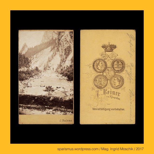 """Prof. J. Reiner, Prof. J. Reiner - Maler und Fotograf in Klagenfurt etwa 1862 bis etwa 1876, Prof. Johann Reiner, Prof. Johann Reiner (1825 Wien – 1897 Klagenfurt) - Fotograf in Klagenfurt etwa 1862 bis etwa 1876 (Verlag Alois Beer), Prof. Johann Baptist Reiner (1825 Wien – 1897 Klagenfurt) – Fotograf Zeichenlehrer (1855-1894) Musiker Volksliedsammler in Klagenfurt, Steiermark – Gesäuse - Enns – 254 langer Nebenfluss der Donau, Steiermark – Gesäuse - Enns – """"Enns-Ursprung"""" liegt in den Radstädter Tauern, Steiermark – Gesäuse - Enns – """"Enns-Mündung"""" liegt bei Mauthausen, Steiermark – Gesäuse - Enns - Enisa - Anesis (9. Jh.) - lateinisch flumen Anasus = flumen Anisus – keltisch Ani (15. Jh. v. Chr.), Steiermark – Gesäuse = Xeis , Steiermark – Gesäuse - Enns , Steiermark – Gesäuse – Nationalpark Gesäuse - Landschaftsschutzgebiet im Bezirk Liezen, Steiermark – Gesäuse – Ennstaler Alpen der Ostalpen im Bezirk Liezen, Steiermark – Gesäuse – Admont, Steiermark – Gesäuse – Weng, Steiermark – Gesäuse – Hieflau, Steiermark – Gesäuse – Johnsbach, Steiermark – Gesäusebrücke – Brücke über den Johnbach, Steiermark – Gesäuseeingang = Gesäuse-Eingang, Steiermark – Gesäuse – Himbeerstein – nördlicher Teil der Ennstaler Alpen, Steiermark – Gesäuse – Haindlmauer – südlicher Teil der Ennstaler Alpen, Steiermark – Gesäuse – Himbeerstein bei Admont, The Austrian Federal Chancellery, Bundeskanzleramt Österreich, BKA, Ballhausplatz 2, Sparismus, Sparen ist muss,  Sparism, sparing is must Art goes politics, Zensurismus, Zensur muss sein, Censorship is must, Mag. Ingrid Moschik, Mündelkünstlerin, ward artist, Staatsmündelkünstlerin, political ward artist, Österreichische Staatsmündelkünstlerin, Austrian political ward artist"""