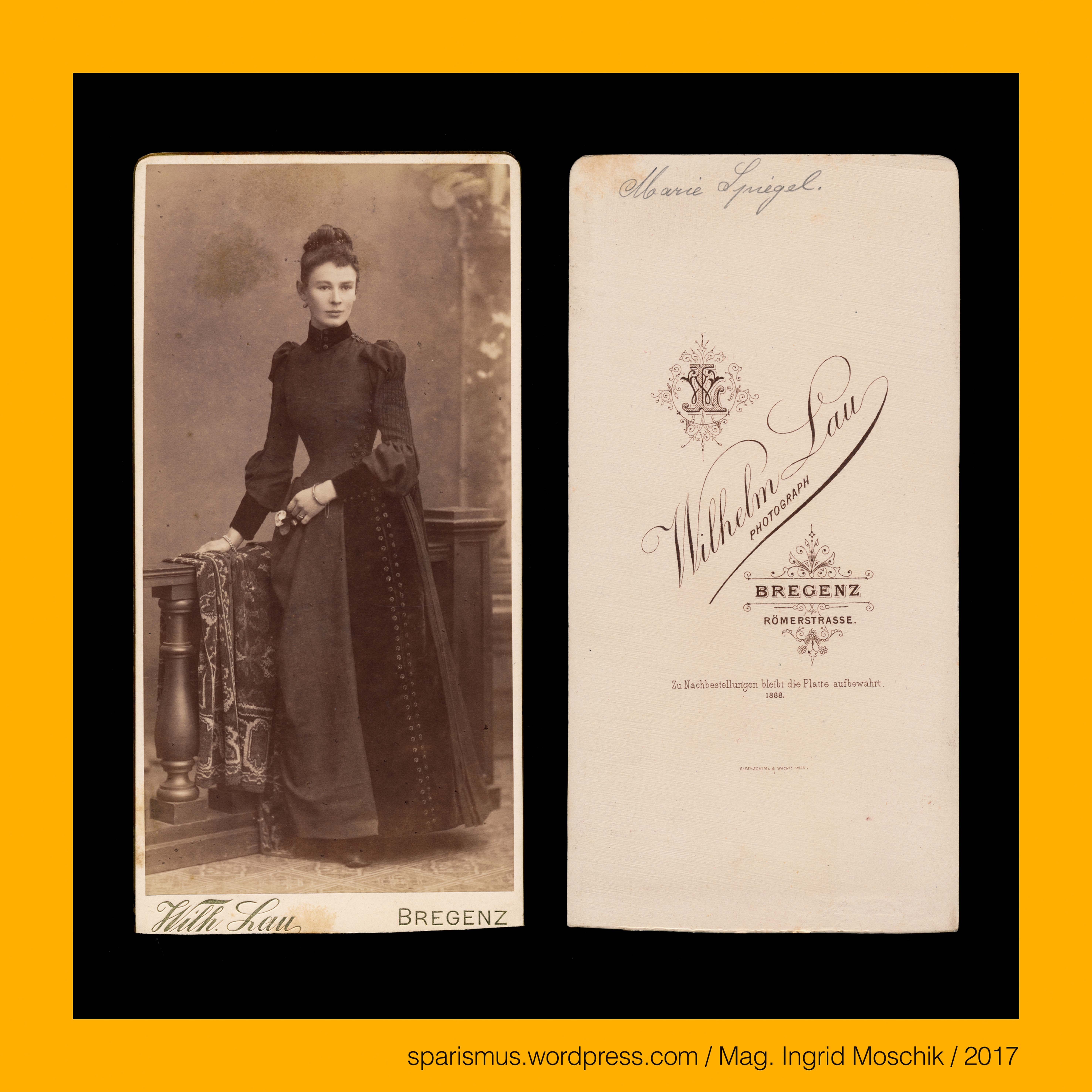 Wilhelm Lau, Photograph in #Bregenz, 1888, Marie Spiegel in ...
