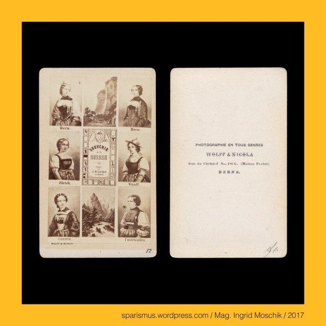 """WOLFF & NICOLA, WOLFF et NICOLA – Berne - Rue du Christof No. 186 E. (Maison Probst) – photograph et editeur (1864 - 1876), Emil Nicola – Photograph in Bern in den 1870-80ern, J. H. Locher – Zürich – """"Souvenir de la Suisse"""". J. H. Locher – Zürich, Johann Heinrich Locher (1810 St. Gallen – 1892 Zürich) – Zeichner Stecher Lithograf Verleger in Zürich (von 1836 bis 1870er), Suisse – Canton Berne – Berne = Bern = Bärn = Berna, Suisse – Canton Berne – Berne = Bern = Bärn = Berna – circa 141.000 Einwohner zählende Stadt an der Aare, The Austrian Federal Chancellery, Bundeskanzleramt Österreich, BKA, Ballhausplatz 2, Sparismus, Sparen ist muss,  Sparism, sparing is must Art goes politics, Zensurismus, Zensur muss sein, Censorship is must, Mag. Ingrid Moschik, Mündelkünstlerin, ward artist, Staatsmündelkünstlerin, political ward artist, Österreichische Staatsmündelkünstlerin, Austrian political ward artist"""