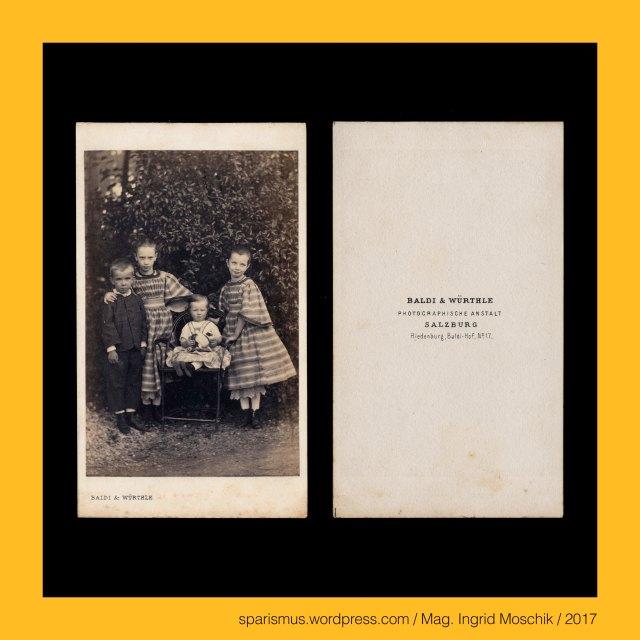 """Gregor Baldi – Kunsthandlung in Salzburg in den 1840-50ern, BALDI & WÜRTHLE - PHOTOGRAPHISCHE ANSTALT – SALZBURG – Riedenburg - Baldi-Hof No 17 (1863), Baldi & Würthle – Salzburg - Villa Baldi = Villa Almegg = Baldi Hof = Hitzgern Hof = Riedenburger Straße 10 – Photographische Anstalt (um 1860 bis 1866), Baldi & Würthle – Salzburg - Schwarzstrasse 3 – Photographische Anstalt (1866 bis 1874), WÜRTHLE & SPINNHIRN in Salzburg, Würthle & Spinnhirn (1881 bis 1892), Hermann Spinnhirn (1840 Konstanz am Bodensee – 1892 Salzburg) – deutsch-österreichischer Chemiker Apotheker Unternehmer, Hermann Spinnhirn (1840 Konstanz – 1892 Salzburg) – Schwiegersohn von Friedrich Würthle in Salzburg, Hermann Spinnhirn (1840 Konstanz – 1892 Salzburg) – seit 1874 Partner von """"Baldi und Würthle"""" in Salzburg, Hermann Spinnhirn (1840 Konstanz – 1892 Salzburg) – von 1881 bis 1892 Teilhaber von """"Würthle & Spinnhirn"""" in Salzburg, BALDI & WÜRTHLE, Gregor Baldi (1814 Telve Val Sugana Trentino – 1878 Salzburg) – österreichischer Fotograf und Kunsthändler in Salzburg, Baldi & Würthle – gemeinsames Fotoatelier in Salzburg von 1862 bis 1874 bzw. 1882, G. Baldi – Fotoatelier in Salzburg von Jänner bis April 1874, Karl Friedrich Würthle (1810 Konstanz am Bodensee – 1902 Salzburg) – österreichischer Fotograf in Salzburg, Würthle & Spinnhirn (1882 bis 1892), Würthle & Sohn (1892 – 1916), Galerie Würthle, Salzburg – Villa Baldi = Villa Almegg = Baldi Hof = Hitzgern Hof = Riedenburger Straße 10 (1873 bis heute), Salzburg – Scharzstrasse (1867 bis heute) – vom Platzl zum Gebirgsjägerplatz verlaufende Strasse am rechten Ufer der Salzach, Karl Freiherr von Schwarz (1817 Söhle bei Neutitschein Mähren – 1898 Salzburg-Gnigl) – Bauunternehmer der Gründerzeit, Salzburg, Salzburg-Land, Salzburg-Stadt, Salzburg – Salzburg-Stadt (um 715 bis heute) = (lateinisch Oppidum) Iuvavum = Juvavum (14 v. Chr. bis 7. Jh.), Salzburg – Riedenburg, Salzburg - Riedenburg – """"von Riedgras umgebener schützender Berg = Burg"""", Salzburg - """