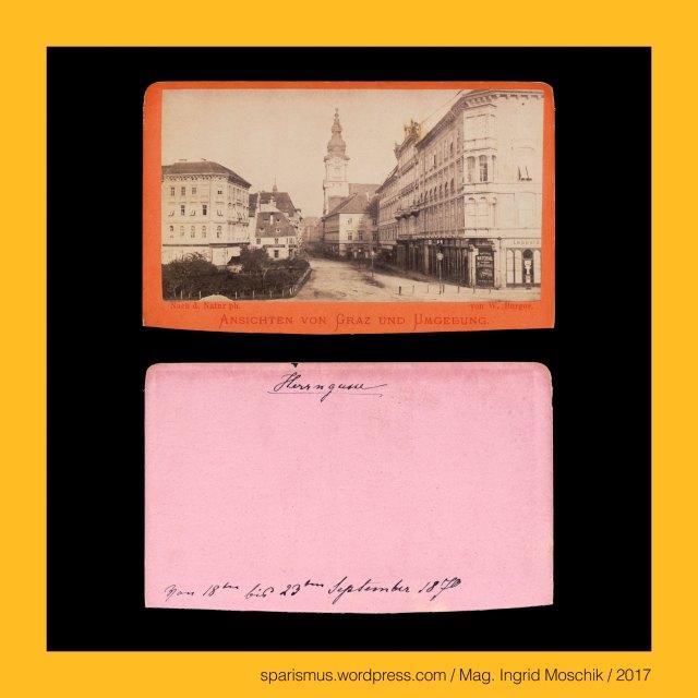 """W. Burger, Wilhelm Burger, Wilhelm Joseph Burger (1844 Wien – 1920 Wien) - Maler und Photograph in Wien, S. Sonnenthal, Samuel Sonnenthal (aktiv um 1868 bis um 1892 in Wien) - Photograph Photoverleger und Kunsthändler in Wien, Graz – I. Innere Stadt – Am Eisernen Tor (1947 bis heute), Graz – I. Innere Stadt – Am Eisernen Tor (1947 bis heute) – Eisenthorplatz – Auerspergplatz - Bismarckplatz (1899 bis 1947), Graz – I. Innere Stadt – Am Eisernen Tor – Topologie zwischen Herrengasse im Norden und Joanneumring im Süden, Graz – I. Innere Stadt – Hauptplatz – Erzherzog-Johann-Brunnendenkmal (1878 bis heute), Graz – I. Innere Stadt – Hauptplatz – Erzherzog-Johann-Denkmal (1878 bis heute), Erzherzog Johann von Österreich (1782 Florenz – 1859 Graz) – Mitglied des Hauses Habsburg, Erzherzog Johann von Österreich (1782 Florenz – 1859 Graz) – Bruder von Kaiser Franz I. von Österreich, Erzherzog Johann von Österreich (1782 Florenz – 1859 Graz) – österreichischer Feldmarschall, Erzherzog Johann von Österreich (1782 Florenz – 1859 Graz) – Förderer der Steiermark, Graz – I. Innere Stadt – Hauptplatz – Erzherzog-Johann-Brunnen (1878 bis heute), Franz Pönninger (1832 Wien – 1906 Wien) – österreichischer Bildhauer und Medailleur, Graz – I. Innere Stadt – Hauptplatz – Erzherzog-Johann-Brunnen von Franz Pönninger (1878 bis heute), Graz – I. Innere Stadt – Dreifaltigkeitssäule (1684-88 bis heute) – von Kaiser Leopold I. 1680 gestiftete Pestsäule, Graz – I. Innere Stadt – Hauptplatz – Sackstrasse – Dreifaltigkeitssäule (1688-1875), Graz – I. Innere Stadt – Karmeliterplatz – Dreifaltigkeitssäule (1876 bis heute), Graz – I. Innere Stadt – Hauptplatz (1870 bis heute), Graz – I. Innere Stadt – Hauptplatz = Hauptwachplatz (19. Jahrhundert) = """"auf dem Platz"""" (um 1160 bis 1665), Graz – I. Innere Stadt – Hauptplatz = Adolf-Hitler-Platz (1838-1945), The Austrian Federal Chancellery, Bundeskanzleramt Österreich, BKA, Ballhausplatz 2, Sparismus, Sparen ist muss,  Sparism, sparing is must Art goes po"""