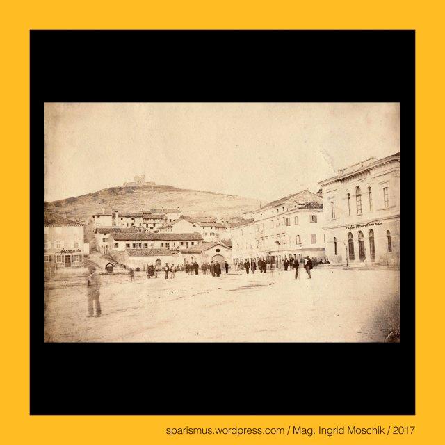 """ANONYMUS, anonym, anonymous, ohne Namen, ohne Autor, ohne Autorenschaft, Monfalcone = Monfalcon = Trzic = Falkenberg, Monfalcone = Monfalcon = Trzic = Falkenberg – circa 30000 Einwohner zählende Stadt in der Provinz Görz in Italien, Monfalcone = Monfalcon = Trzic = Falkenberg – zwischen Grado und Triest liegende Stadt am Flusse Isonzo mit Zugang zum Mittelmeer, Monfalcone = Monfalcon = Trzic = Falkenberg – La Rocca – """"Rocha de Monfalcon"""" - Museo della Rocca, Monfalcone = Monfalcon = Trzic = Falkenberg – Piazza Grande = Piazza della Repubblica, The Austrian Federal Chancellery, Bundeskanzleramt Österreich, BKA, Ballhausplatz 2, Sparismus, Sparen ist muss,  Sparism, sparing is must Art goes politics, Zensurismus, Zensur muss sein, Censorship is must, Mag. Ingrid Moschik, Mündelkünstlerin, ward artist, Staatsmündelkünstlerin, political ward artist, Österreichische Staatsmündelkünstlerin, Austrian political ward artist"""