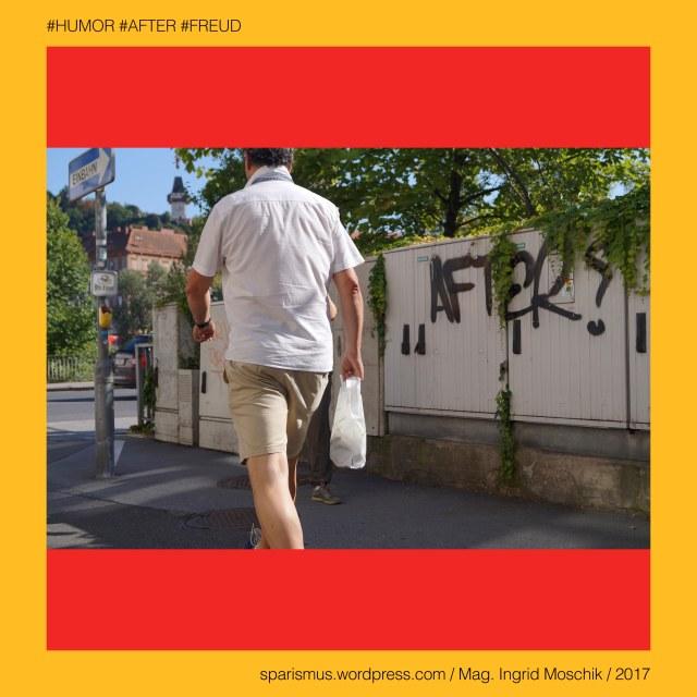 """Mag. Ingrid Moschik – Spurensicherung """"IM NAMEN DER REPUBLIK"""", Mag. Ingrid Moschik - #HUMOR #AFTER #FREUD ARTIST, Mag. Ingrid Moschik, Mag. Ingrid Moschik (*1955 Villach), Mag. Ingrid Moschik (*1955 Villach) – österreichische Künstlerin, Mag. Ingrid Moschik (*1955 Villach) – Austrian Artist, Graz – V. Gries – Grieskai (1894 bis heute), Graz – V. Gries – Grieskai – Topologie zwischen Südtirolerplatz im Norden und Karlauer Gürtel im Süden, Graz – V. Gries – Grieskai – Fischplatz – Nikolaiplatz – Flossmeister-Lendplatz – Speckmarkt, Europa = Europe, Österreich = Austria, Steiermark = Styria, George Orwell (1903-1950) - """"1984"""" = """"Nineteen Eighty-Four"""" (1949) = """"Neunzehnhundertvierundachtzig"""" (1950), George Orwell (1903 Motihari Bihar – 1950 London) – englischer Schriftsteller Essayist Journalist, George Orwell (1903 Motihari Bihar – 1950 London) – Verfasser des dystopischen Romans """"Animal Farm"""" (1945), George Orwell (1903 Motihari Bihar – 1950 London) – Verfasser des dystopischen Romans """"1984"""" (1949), George Orwell (1903-1950) - """"1984"""" – Big Brother = Grosser Bruder, George Orwell (1903-1950) - """"1984"""" – """"Big Brother is Watching You"""", Sigmund Freud = Sigismund Schlomo Freud, Sigmund Freud (1856 Freiberg Mähren – 1939 London) – österreichischer Neurologe Tiefenpsychologe Kulturtheoretiker Religionskritiker, Sigmund Freud (1856 Freiberg Mähren – 1939 London) – Begründer der Psychoanalyse, Sigmund Freud (1856 Freiberg Mähren – 1939 London) – """"Die Traumdeutung"""" (1899), Sigmund Freud (1856 Freiberg Mähren – 1939 London) – """"Zur Psychopathologie des Alltagslebens"""" (1904), Sigmund Freud (1856 Freiberg Mähren – 1939 London) – """"Der Witz und seine Beziehung zum Unbewußten"""" (1905), Sigmund Freud (1856 Freiberg Mähren – 1939 London) – """"Drei Abhandlungen zur Sexualtheorie"""" (1905), After – (deutsch) der After """"Darmausgang Ausgang Anus Arschloch Poloch Loch Poperze Rosette Oasch"""" (14. Jh.), After – mhd. after aftro - ahd. aftero """"Hintere Hinterer Hintern"""" – ahd. after """"hinter nach nachs"""
