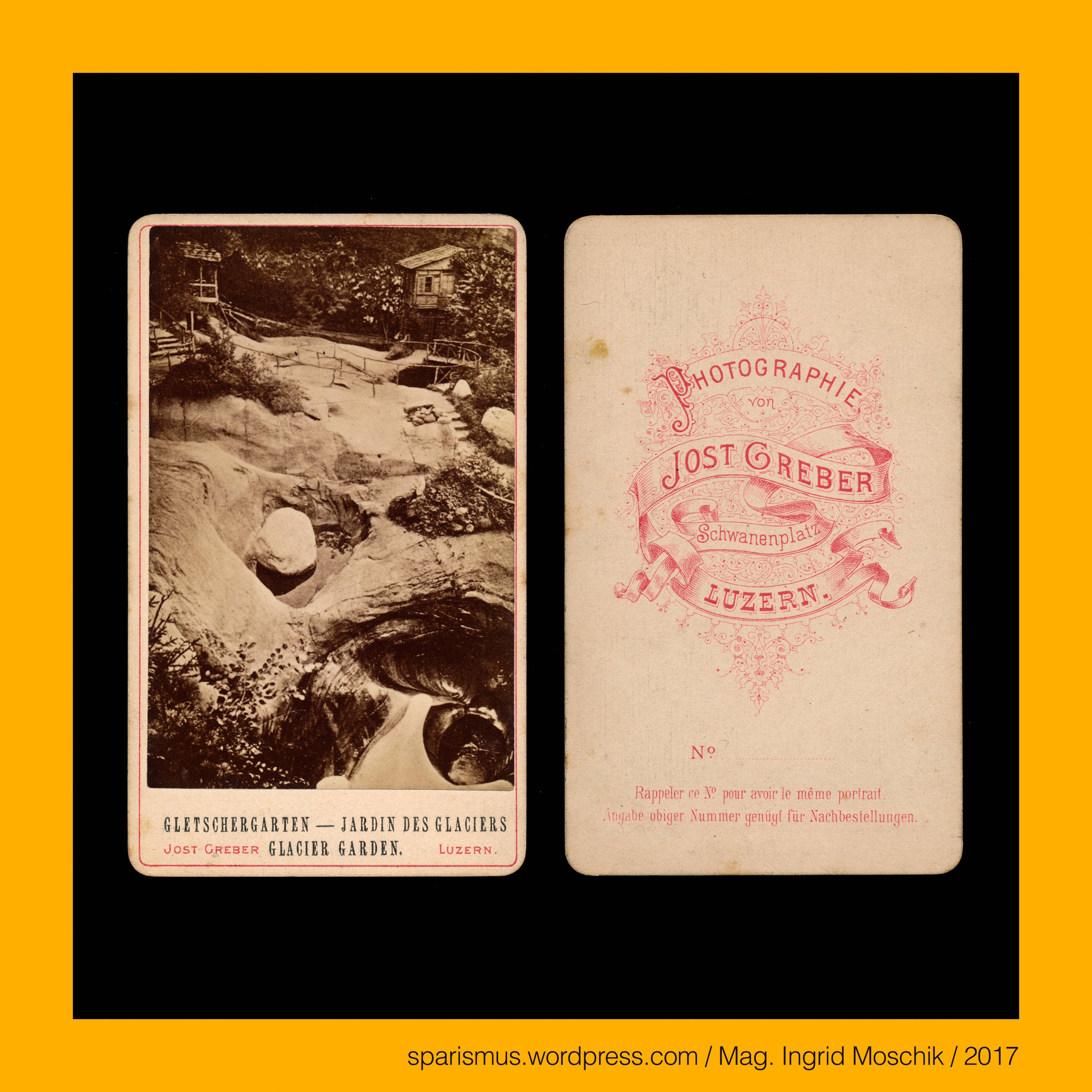 Jost #Greber in #Luzern, um 1880, #GLETSCHERGARTEN – JARDIN DES ...