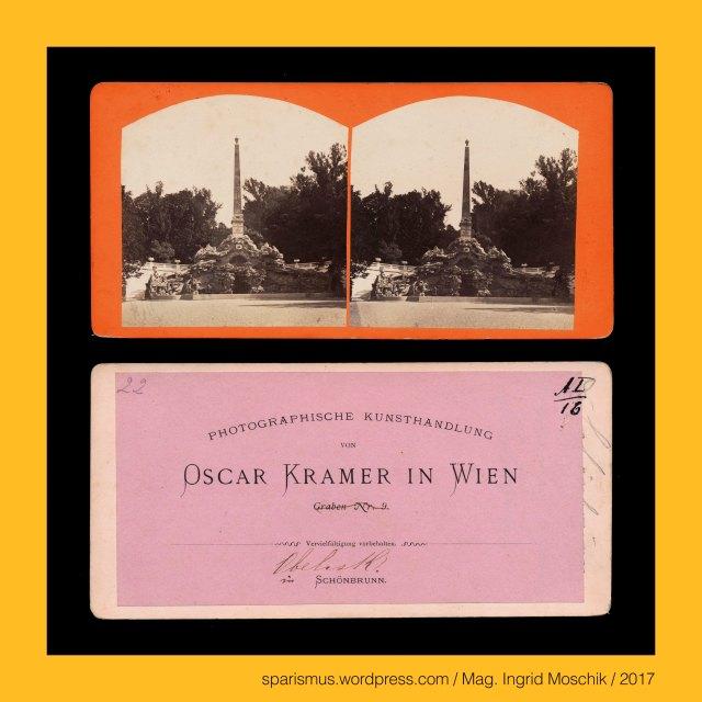 O. Kramer, Oscar Kramer Wien, Oscar Kramer = Oskar Kramer, Oscar Kramer (1835 Wien – 1892 Wien) – Photograph Photoverleger Photohändler Photopublizist, OSCAR KRAMER in WIEN Grabengasse 7 (1864-1866), OSCAR KRAMER in WIEN Kohlmarkt 18 (1870-1874), Wien – 13. Hietzing – Schloss Schönbrunn, Wien – 13. Hietzing – Schloss Schönbrunn – Obeliskbrunnen (1777 bis heute), Wien – 13. Hietzing – Schloss Schönbrunn – Obeliskbrunnen = Sybillengrotte, The Austrian Federal Chancellery, Bundeskanzleramt Österreich, BKA, Ballhausplatz 2, Sparismus, Sparen ist muss,  Sparism, sparing is must Art goes politics, Zensurismus, Zensur muss sein, Censorship is must, Mag. Ingrid Moschik, Mündelkünstlerin, ward artist, Staatsmündelkünstlerin, political ward artist, Österreichische Staatsmündelkünstlerin, Austrian political ward artist