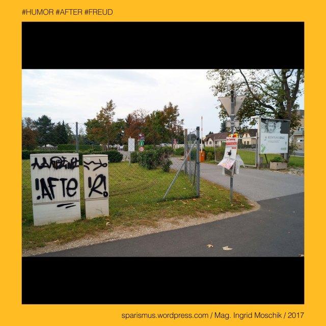 """Mag. Ingrid Moschik - #HUMOR #AFTER #FREUD #ARTIST, Mag. Ingrid Moschik – Spurensicherung """"IM NAMEN DER REPUBLIK"""", Moschik, Mag. Ingrid Moschik (*1955 Villach), Mag. Ingrid Moschik (*1955 Villach) – österreichische Künstlerin, Mag. Ingrid Moschik (*1955 Villach) – Austrian Artist, Graz – Gries - Alte Poststrasse = Poststrasse (1886 bis heute), Graz – Gries - Alte Poststrasse – Topologie zwischen Göstinger Strasse im Norden und Schwarzer Weg im Süden, Graz – V. Gries XVI. Strassgang – Kapellenstrasse (1889 bis heute), Graz – V. Gries XVI. Strassgang – Kapellenstrasse – Topologie zwischen Vinzenz-Muchitsch-Strasse im Osten und Kärnter Strasse im Westen, Graz – V. Gries XVI. Strassgang – Kapellenstrasse – """"Kapellenwirt"""" = Gasthof """"Zur Kapelle"""", Europa = Europe, Österreich = Austria, Steiermark = Styria, George Orwell (1903-1950) - """"1984"""" = """"Nineteen Eighty-Four"""" (1949) = """"Neunzehnhundertvierundachtzig"""" (1950), George Orwell (1903 Motihari Bihar – 1950 London) – englischer Schriftsteller Essayist Journalist, George Orwell (1903 Motihari Bihar – 1950 London) – Verfasser des dystopischen Romans """"Animal Farm"""" (1945), George Orwell (1903 Motihari Bihar – 1950 London) – Verfasser des dystopischen Romans """"1984"""" (1949), George Orwell (1903-1950) - """"1984"""" – Big Brother = Grosser Bruder, George Orwell (1903-1950) - """"1984"""" – """"Big Brother is Watching You"""", Sigmund Freud = Sigismund Schlomo Freud, Sigmund Freud (1856 Freiberg Mähren – 1939 London) – österreichischer Neurologe Tiefenpsychologe Kulturtheoretiker Religionskritiker, Sigmund Freud (1856 Freiberg Mähren – 1939 London) – Begründer der Psychoanalyse, Sigmund Freud (1856 Freiberg Mähren – 1939 London) – """"Die Traumdeutung"""" (1899), Sigmund Freud (1856 Freiberg Mähren – 1939 London) – """"Zur Psychopathologie des Alltagslebens"""" (1904), Sigmund Freud (1856 Freiberg Mähren – 1939 London) – """"Der Witz und seine Beziehung zum Unbewußten"""" (1905), Sigmund Freud (1856 Freiberg Mähren – 1939 London) – """"Drei Abhandlungen zur Sexualtheorie"""""""