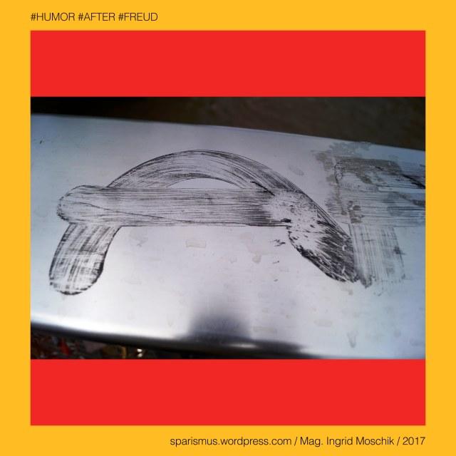 """Mag. Ingrid Moschik - #HUMOR #AFTER #FREUD #ARTIST, Mag. Ingrid Moschik – Spurensicherung """"IM NAMEN DER REPUBLIK"""", Moschik, Mag. Ingrid Moschik (*1955 Villach), Mag. Ingrid Moschik (*1955 Villach) – österreichische Künstlerin, Mag. Ingrid Moschik (*1955 Villach) – Austrian Artist, Graz – I. Innere Stadt IV. Lend – Erzherzog-Johann-Brücke, Graz – I. Innere Stadt IV. Lend – Hauptbrücke, Graz – I. Innere Stadt IV. Lend – Erzherzog-Franz-Carl-Brücke (1845-1892) – Hauptbrücke (1918-1965) – Erzherzog-Johann-Brücke (1965 bis heute), Graz – I. Innere Stadt IV. Lend – Hauptbrücke – Topologie zwischen Südtirolerplatz im Westen und Murgasse im Osten, Europa = Europe, Österreich = Austria, Steiermark = Styria, George Orwell (1903-1950) - """"1984"""" = """"Nineteen Eighty-Four"""" (1949) = """"Neunzehnhundertvierundachtzig"""" (1950), George Orwell (1903 Motihari Bihar – 1950 London) – englischer Schriftsteller Essayist Journalist, George Orwell (1903 Motihari Bihar – 1950 London) – Verfasser des dystopischen Romans """"Animal Farm"""" (1945), George Orwell (1903 Motihari Bihar – 1950 London) – Verfasser des dystopischen Romans """"1984"""" (1949), George Orwell (1903-1950) - """"1984"""" – Big Brother = Grosser Bruder, George Orwell (1903-1950) - """"1984"""" – """"Big Brother is Watching You"""", Sigmund Freud = Sigismund Schlomo Freud, Sigmund Freud (1856 Freiberg Mähren – 1939 London) – österreichischer Neurologe Tiefenpsychologe Kulturtheoretiker Religionskritiker, Sigmund Freud (1856 Freiberg Mähren – 1939 London) – Begründer der Psychoanalyse, Sigmund Freud (1856 Freiberg Mähren – 1939 London) – """"Die Traumdeutung"""" (1899), Sigmund Freud (1856 Freiberg Mähren – 1939 London) – """"Zur Psychopathologie des Alltagslebens"""" (1904), Sigmund Freud (1856 Freiberg Mähren – 1939 London) – """"Der Witz und seine Beziehung zum Unbewußten"""" (1905), Sigmund Freud (1856 Freiberg Mähren – 1939 London) – """"Drei Abhandlungen zur Sexualtheorie"""" (1905), After – (deutsch) der After """"Darmausgang Ausgang Anus Arschloch Poloch Loch Poperze Rosette Oas"""