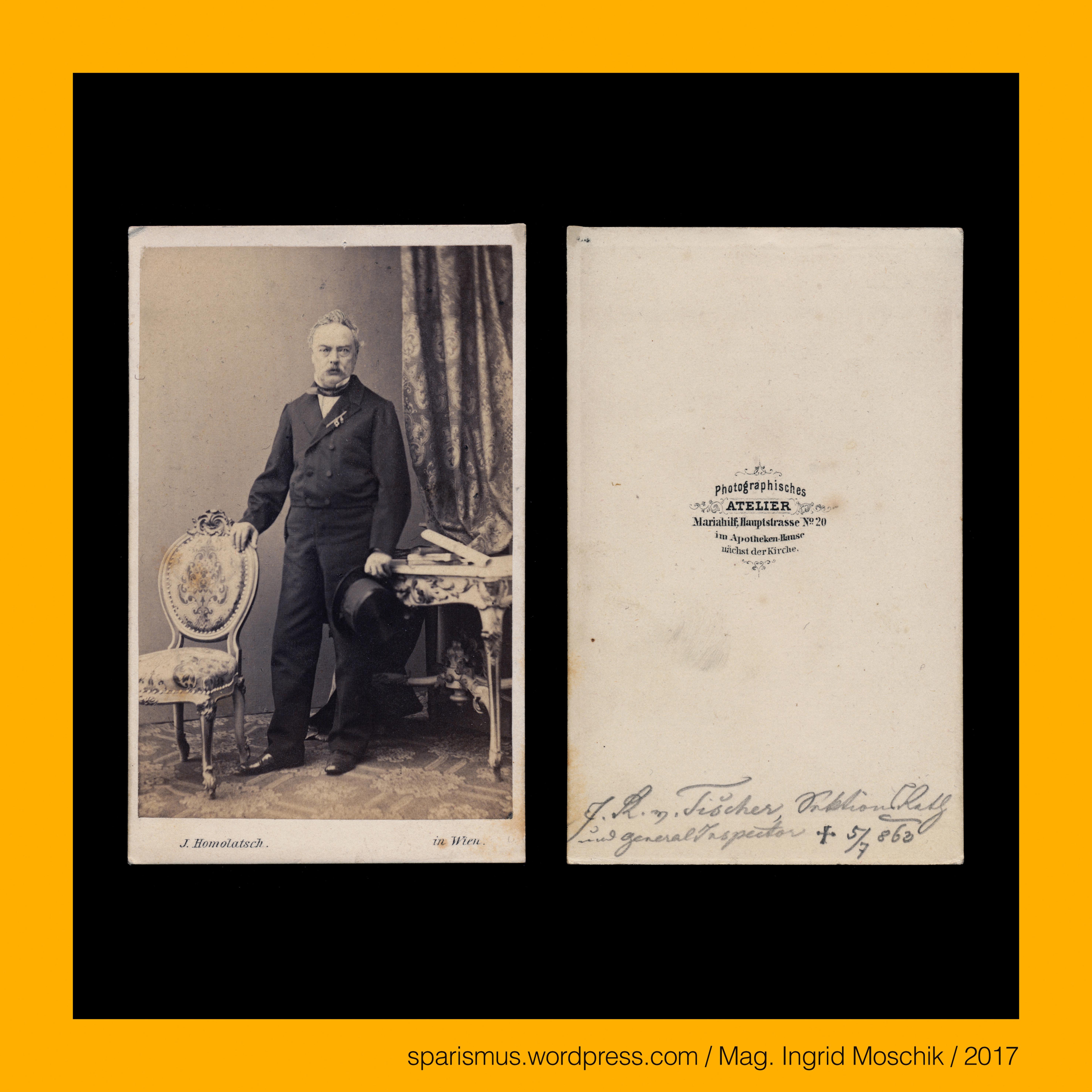 Josef Homolatsch 1812 Lettowitz Mähren – 1888 Wien – österreichischer Beamter und pionier