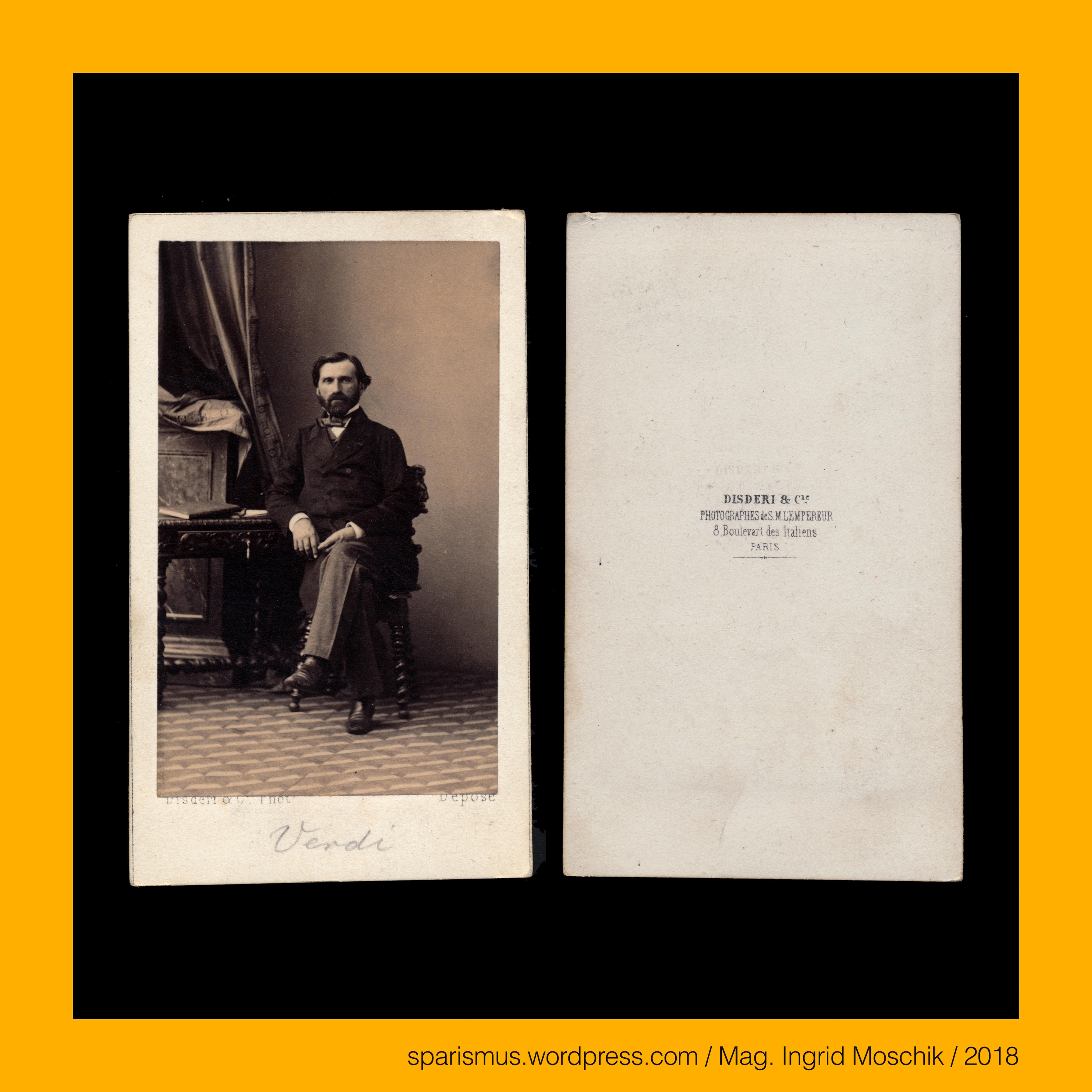 Eugene #Disderi, pre 1860 – #Giuseppe #Verdi, #Italian composer of ...
