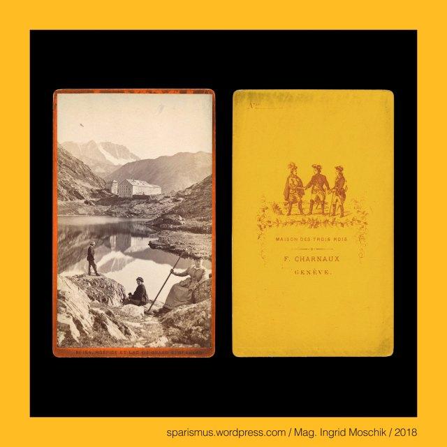 """Florentin Charnaux = Joseph Florentin Charnaux (1819-1883), F. CHARNAUX – GENEVE, Florentin Charnaux – Geneve – Place de Bel-Air – Maison des Trois Rois (1857 bis 1881), Florentin Charnaux (1819-1883 Geneve) – Schweizer Kunsthändler und Fotounternehmer, Charnaux frères Cie – Geneve (1880s), Charnaux = Charneaux = Charny """"boucher butcher Fleischer Fleischhändler"""", Charnaux = Charneaux = Charny – Latin caro carnis """"meat flesh"""" – PIE *(s)ker- *(s)kar- """"to cut shear sharp scheren scharf"""", Schweiz – Kanton Wallis – Grosser St. Bernhard = Grosser Sankt Berhard = Col du Grand Saint-Bernard = Colle del Gran San Bernardo = Great St Bernard Pass = Mons Jovis = Mont-Joux, Schweiz – Kanton Wallis – Grosser St. Bernhard = Col du Grand Saint-Bernard – auf 2469 m ü.M. gelegener Pass zwischen Rhonetal im Norden und Aostatal im Süden, Schweiz – Kanton Wallis – Hospiz auf dem Grossen St. Bernhard = Hospice du Grand-Saint-Bernard = Great St Bernard Hospice (1125 bis heute), Schweiz – Kanton Wallis – Hospiz und See auf dem Grossen St. Bernhard = Hospice et Lac du Grand-Saint-Bernard = Great St Bernard Hospice and Lake (1125 bis heute), Schweiz – Kanton Bern – Interlaken = Aarmühle (bis 1891), Schweiz – Kanton Bern – Interlaken – Gemeinde auf dem Bödele = Schwemmebene der Aare, Schweiz – Berner Oberland - Interlaken, Schweiz – Berner Oberland - Interlaken – circa 5700 Einwohner zählende Gemeinde zwischen Thunersee und Brienzersee, Schweiz – Berner Oberland - Interlaken - lateinisch """"Inter Lacus = zwischen den Seen gelegen"""", Schweiz – Brünigpass, Schweiz – Brünigpass verbindet das Berner Oberland im Kanton Bern mit dem Kanton Obwalden in der Innerschweiz, Schweiz – Brünigpass – bis 1008 m ü.M. verlaufene Brünigstrasse , Schweiz – Brünigpass – seit 1888 fertiggestellte Brünigbahn, Schweiz – Brünigpass – Brünig – Brünigen – Etymologie """"braun, das Braune"""" – PIE *bher- """"rötlich schimmernd"""" – Brauner Biber bringen brown brun, Schweiz – Kanton Bern – Thun – circa 44.000 Einwohner zählende Stad"""