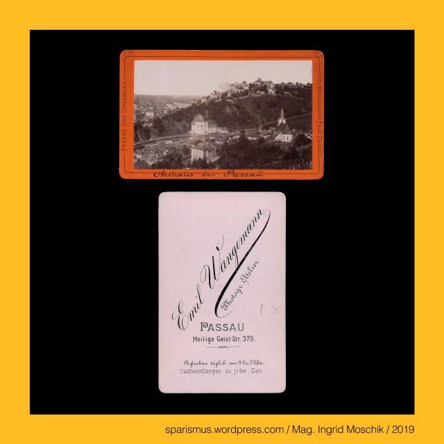 """Emil Wangemann – Passau, Emil Wangemann (1836-1892 Passau) – königlich-bayrischer Hofphotograph, Emil Wangemann (1836-1892 Passau) – bayrischer Fotograf in Passau von circa 1870 bis etwa 1892, Wangemann = Wangermann – """"der eine Wange = Grashang bewirtschaftet"""" - Etymologie 1 ahd. wang """"Wange Hang Abhang Grashang Matte"""" + ahd. man """"Mann Mensch"""", Passau – Hals, Passau - Hals – Etymologie 1 """"enge Stelle eines Landschaft"""", Passau - Ilz = Schwarze Ilz = Schönberger Ohe , Passau - Ilz = Schönberger Ohe – linker Nebenfluss der Donau aus dem Bayerischen Wald, Passau - Ilz – Iltza = Iltsa -  *(p)iliza *(p)elitsa - Etymologie 1 """"kräftiges Gerinne von dunklem Wasser"""", Passau – Ilz - """"Etymologie 1 keltisch *elito = idg. *(p)elito """"fahl grau dunkel"""" + *(h)eis(h)- """"kräftig schnell"""", Passau - Hals an der Ilz, Passau - Hals – circa 1700 Einwohner zählender Ortsteil der Stadt Passau, Passau - Hals - 1972 Eingemeindung des Marktes Hals in die Stadt Passau, Passau – Ilzstadt - Klosterberg, Passau = Latin Batavia Batavis = Gaulish Boiodurum, Passau = Dreiflüssestadt (Donau Inn Ilz) = City of Three Rivers (Danube Inn Ilz), Passau - Wallfahrtskirche Mariahilf (1624-27 bis heute) = Paulinerkloster Mariahilf (seit 2002), Mag. Ingrid Moschik (*1955 Villach - ) – Spurensicherung """"IM NAMEN DER REPUBLIK"""" Österreich, Dr. Timm Starl (*1939 Wien - ) - österreichischer Kulturwissenschaftler Fotohistoriker Ausstellungskurator FOTOGESCHICHTE-Gründer"""