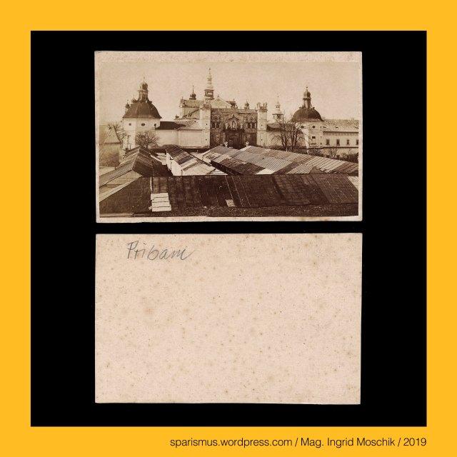 """ANONYMUS, anonym, anonyme, anonymous, ohne Namen, ohne Autor, ohne Autorenschaft, unbekannt, unidendified, unerforscht, Pribram, Przibram, Freiberg in Böhmen, Pibrans, Pribram = Przibram = Freiberg in Böhmen = Pibrans (1939-45), Pribram = Przibram = Freiberg in Böhmen = Pibrans (1939-45) – circa 36.000 Einwohner zählende Bergbau-Stadt (Silber Blei Uranerz) in Mittelböhmen, Pribram = Przibram = Freiberg in Böhmen – Kloster Heiliger Berg = Svata Hora (1709 bis heute) – Marienkapelle (13. Jahrhundert), Pribram = Pzribram = Pibrans = Freiberg in Böhmen – Etymology 1 pri """"vri frei free"""" + bram """"burch berg burg"""", Pribor = Przybor = Freiberg in Mähren – Vriburch (1251), Mag. Ingrid Moschik (*1955 Villach - ) – Spurensicherung """"IM NAMEN DER REPUBLIK"""" Österreich, Dr. Timm Starl (*1939 Wien - ) - österreichischer Kulturwissenschaftler Fotohistoriker Ausstellungskurator FOTOGESCHICHTE-Gründer"""
